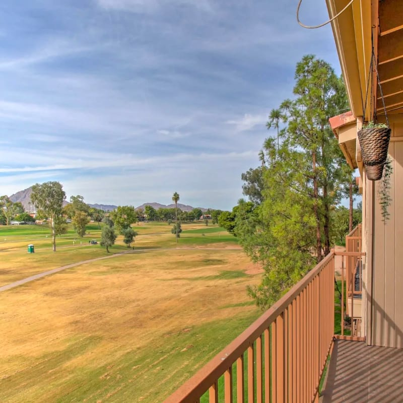Vacation rental home in Scottsdale, Arizona with views of a golf course