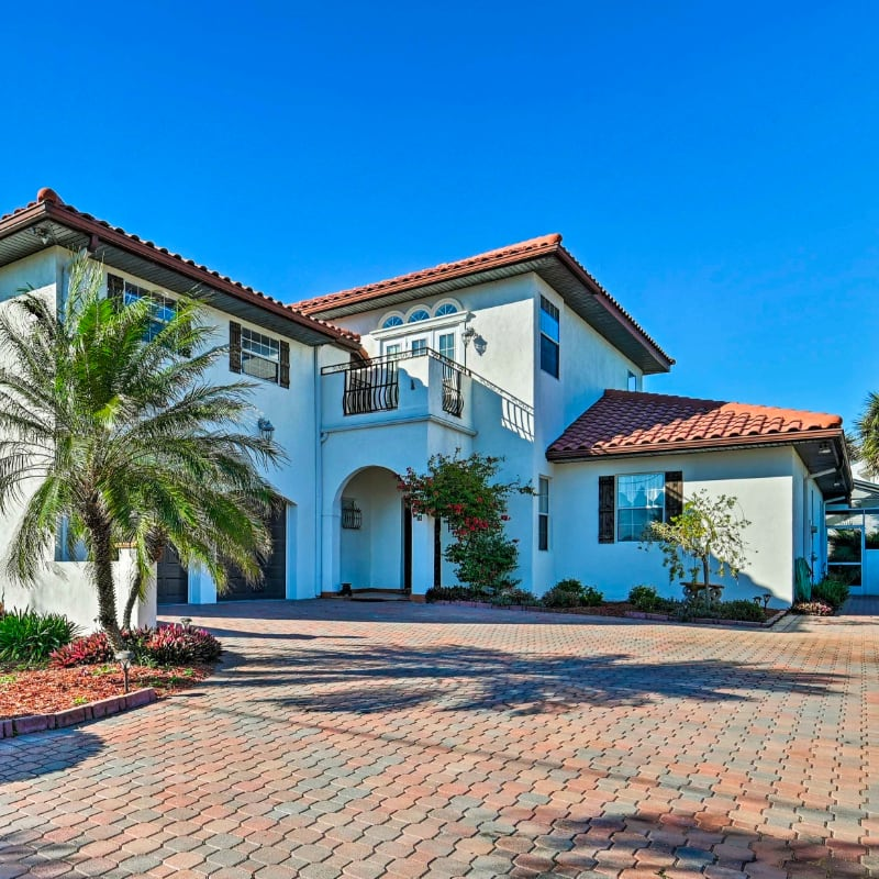 Vacation rental with Spanish-style architecture in St. Augustine, Florida