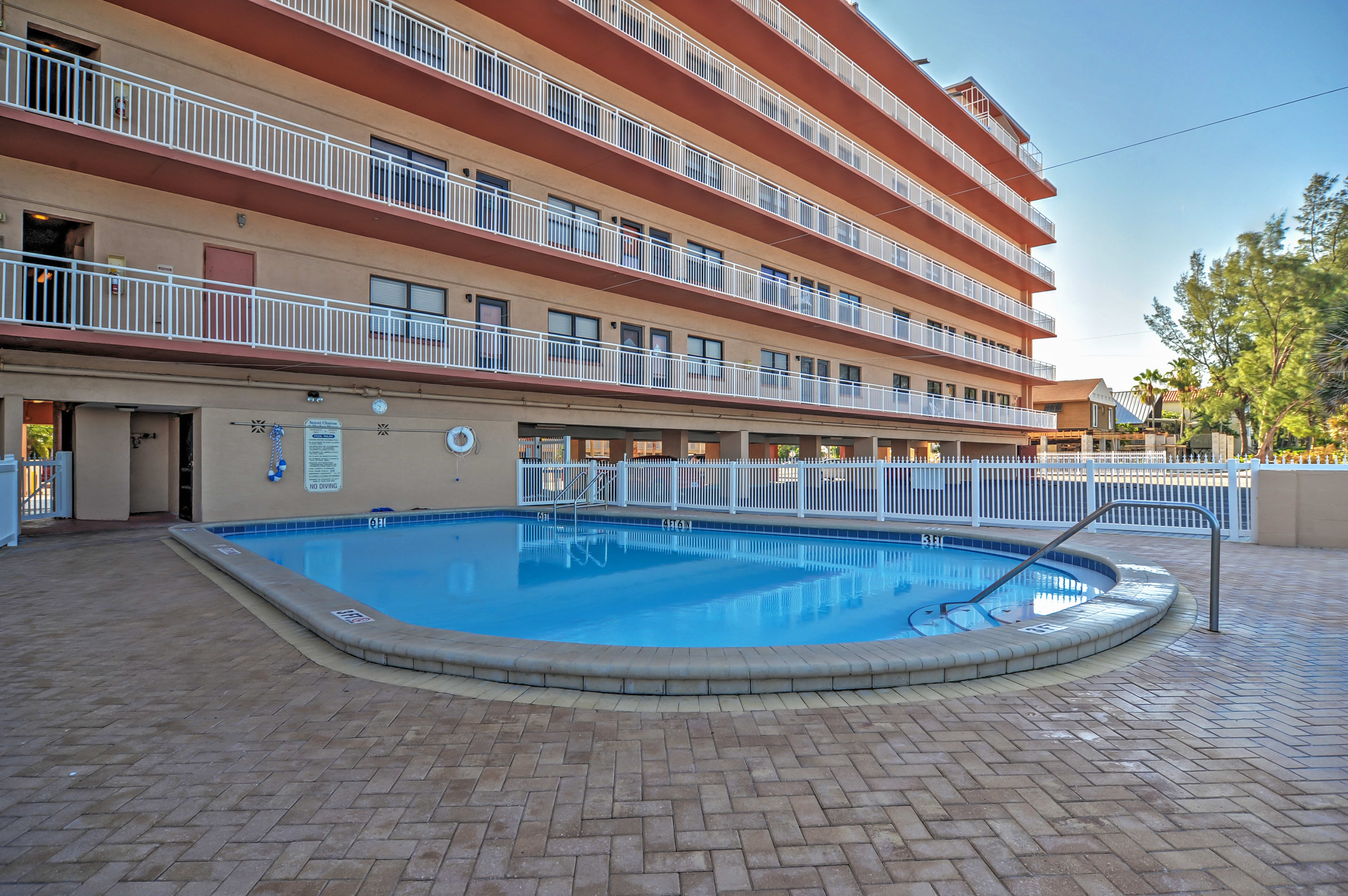 If you don't like the saltwater, enjoy the condominium's heated pool.