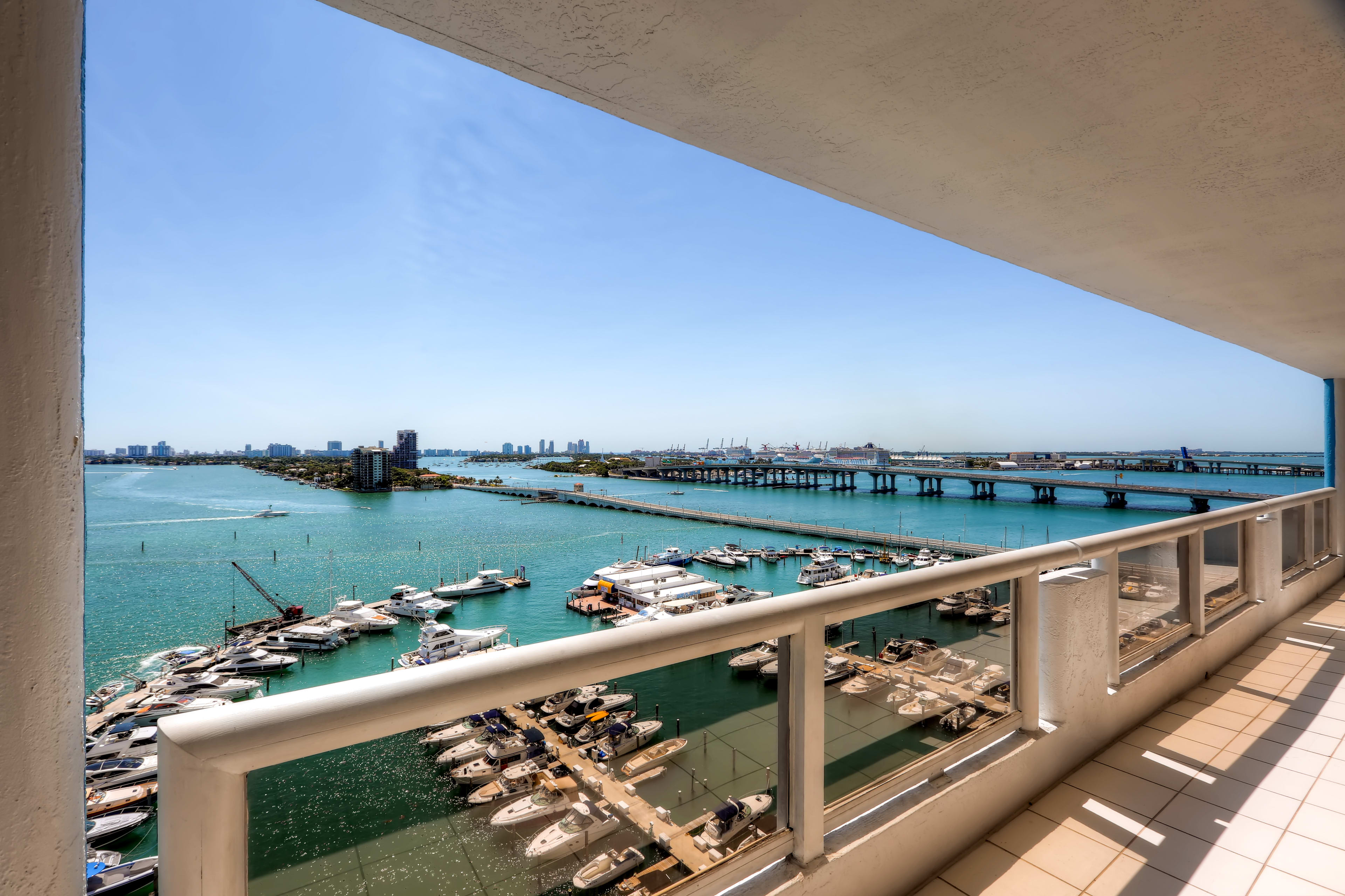 Take in waterfront views from your own private balcony!