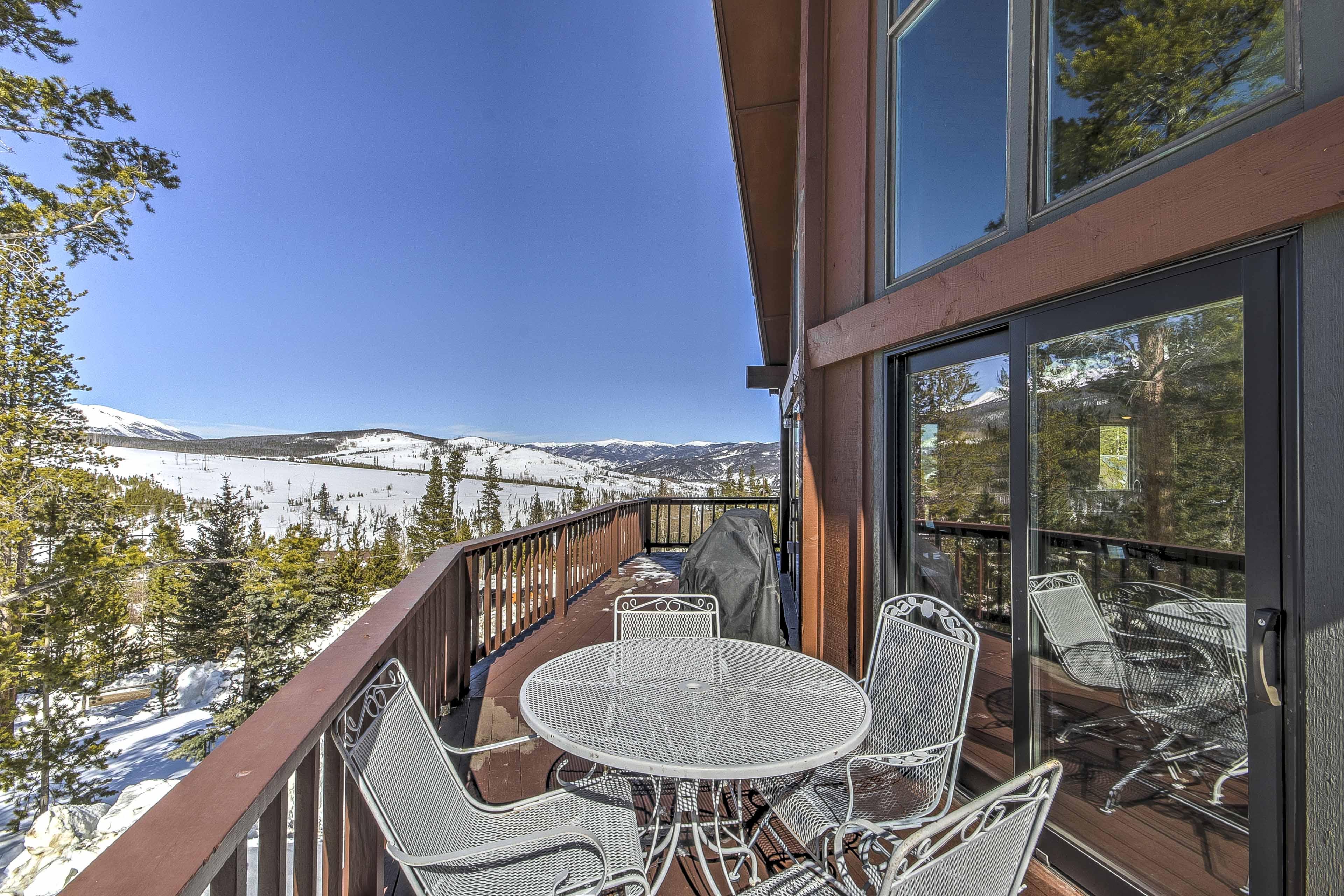 Stunning mountain views await at this gorgeous Breckenridge chalet.