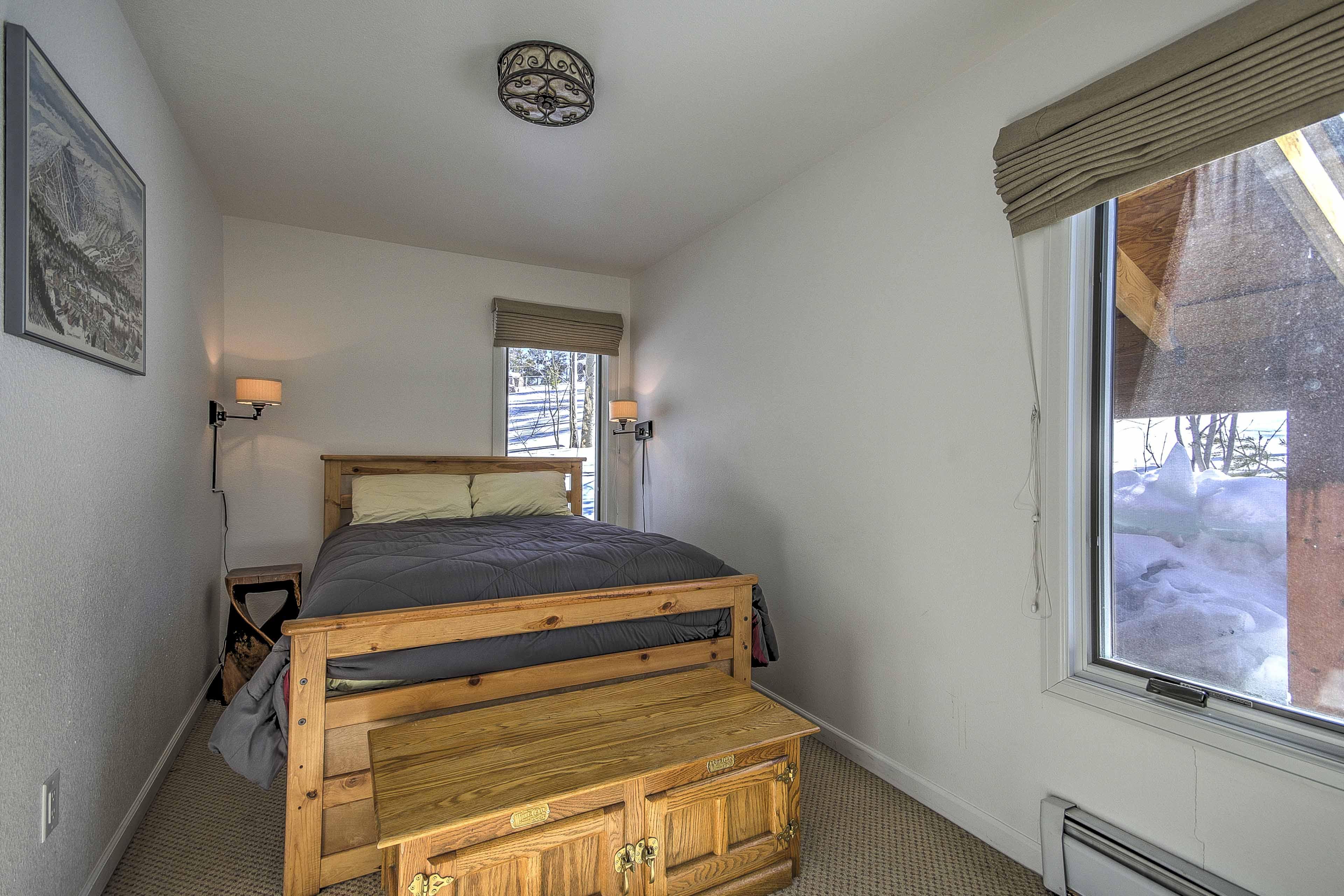 Get plenty of sleep in this bedroom.