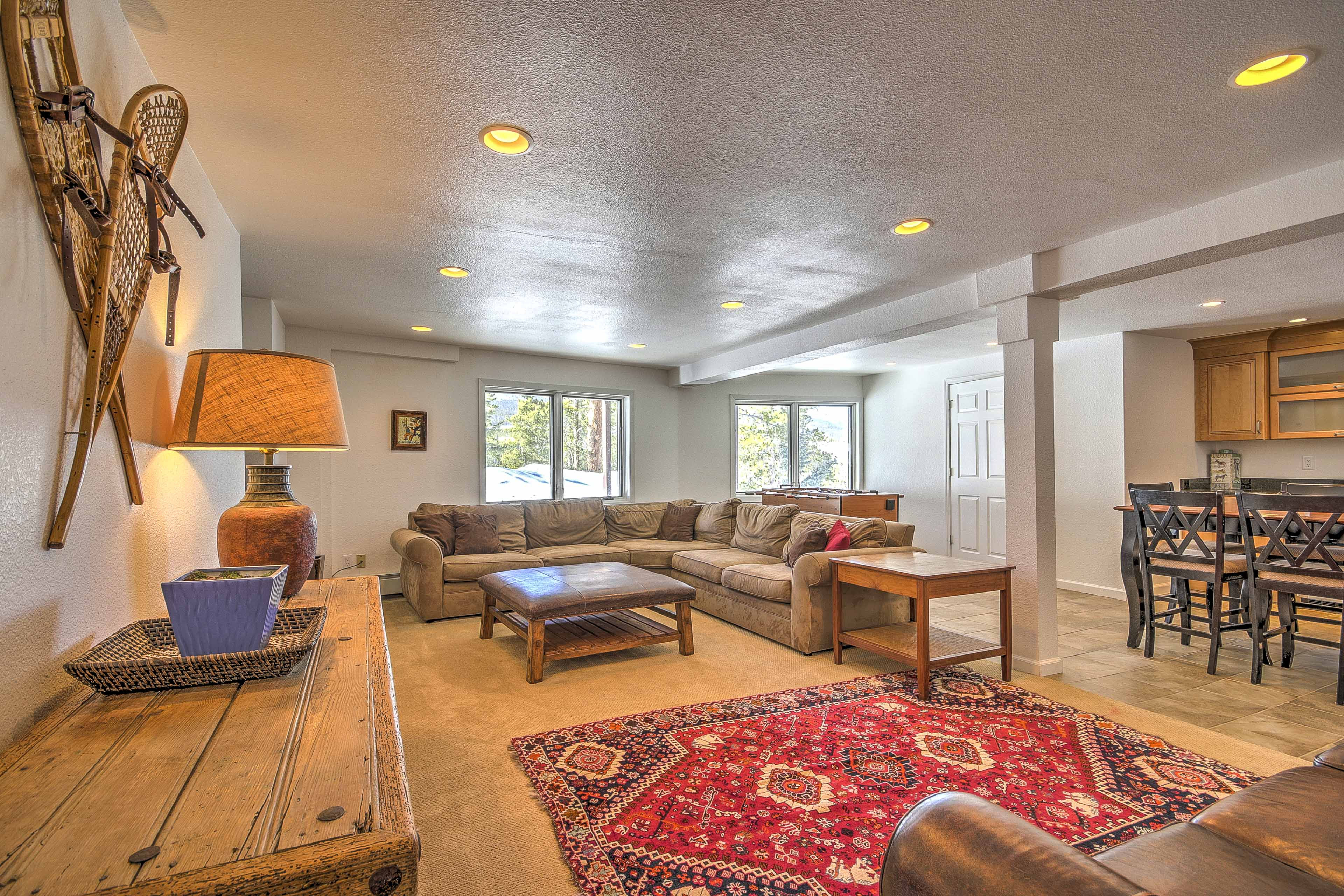 An additional living space ensures everyone has somewhere to kick back.