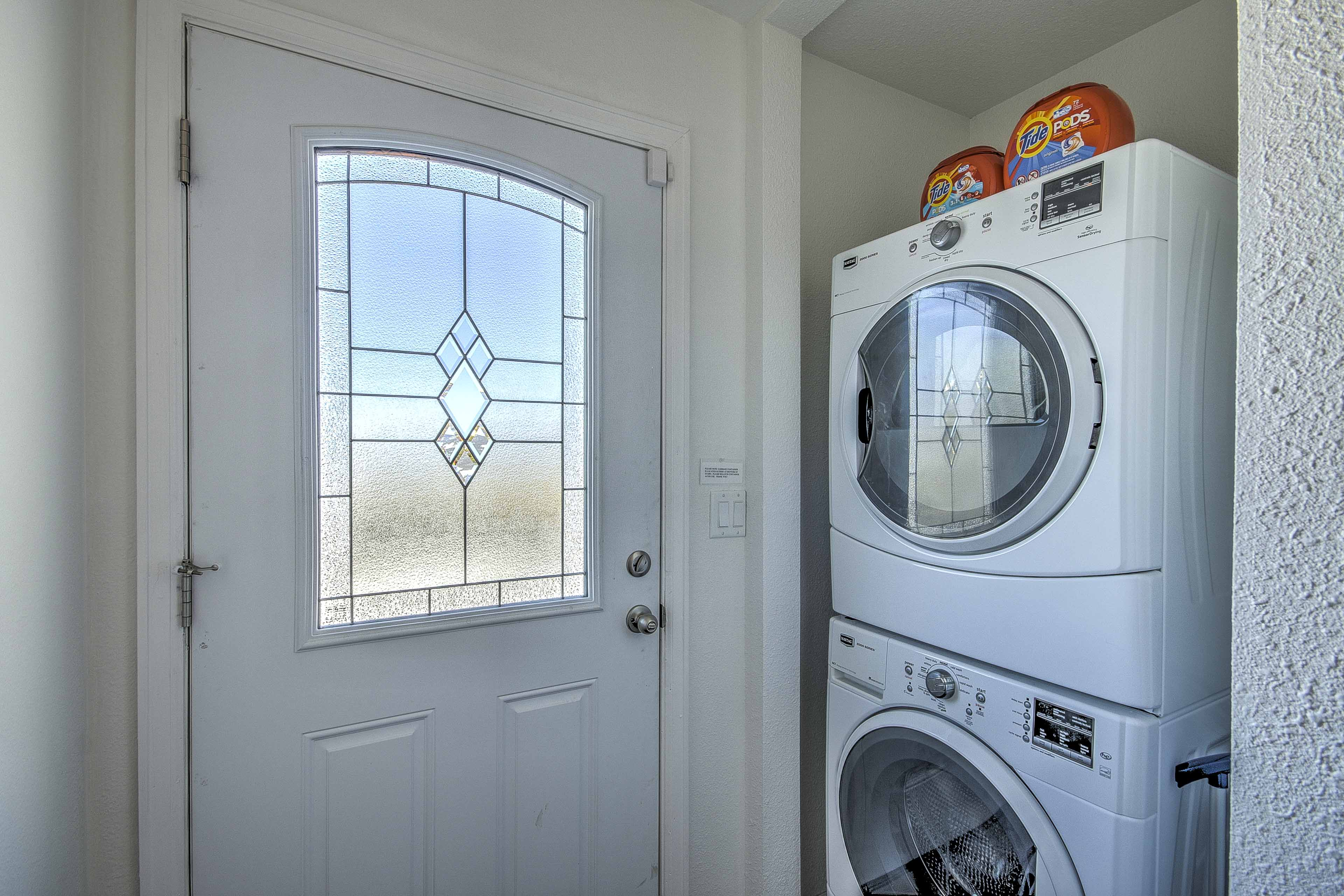 In-unit laundry machines for your convenience.