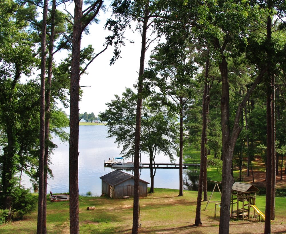 You'll never tire of these expansive Lake Palestine views.