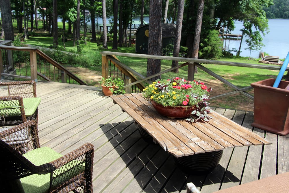 Eleven guests will enjoy relaxing on the private deck or sitting at the fire pit