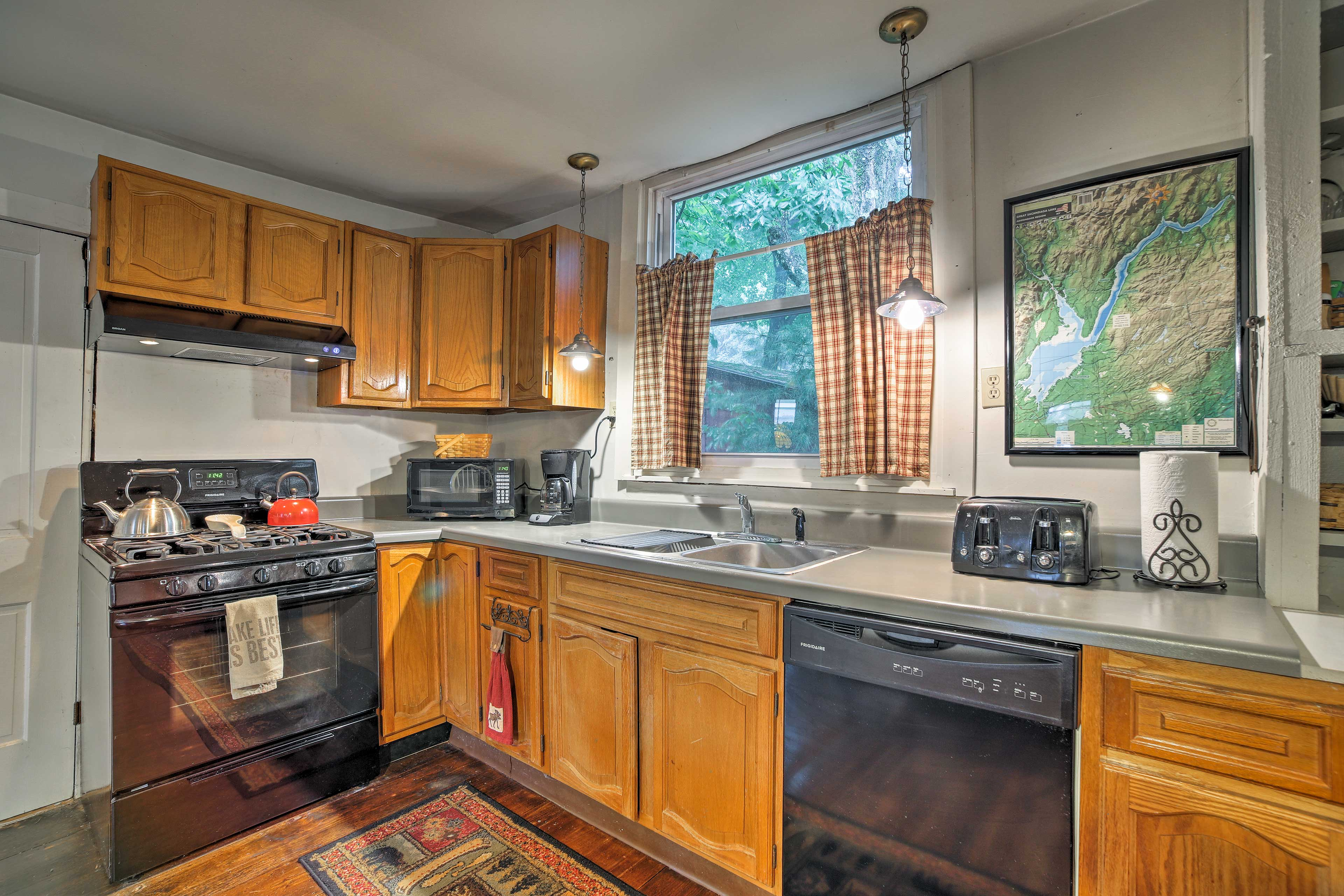 Whip up all of your favorite meals in the fully equipped kitchen.