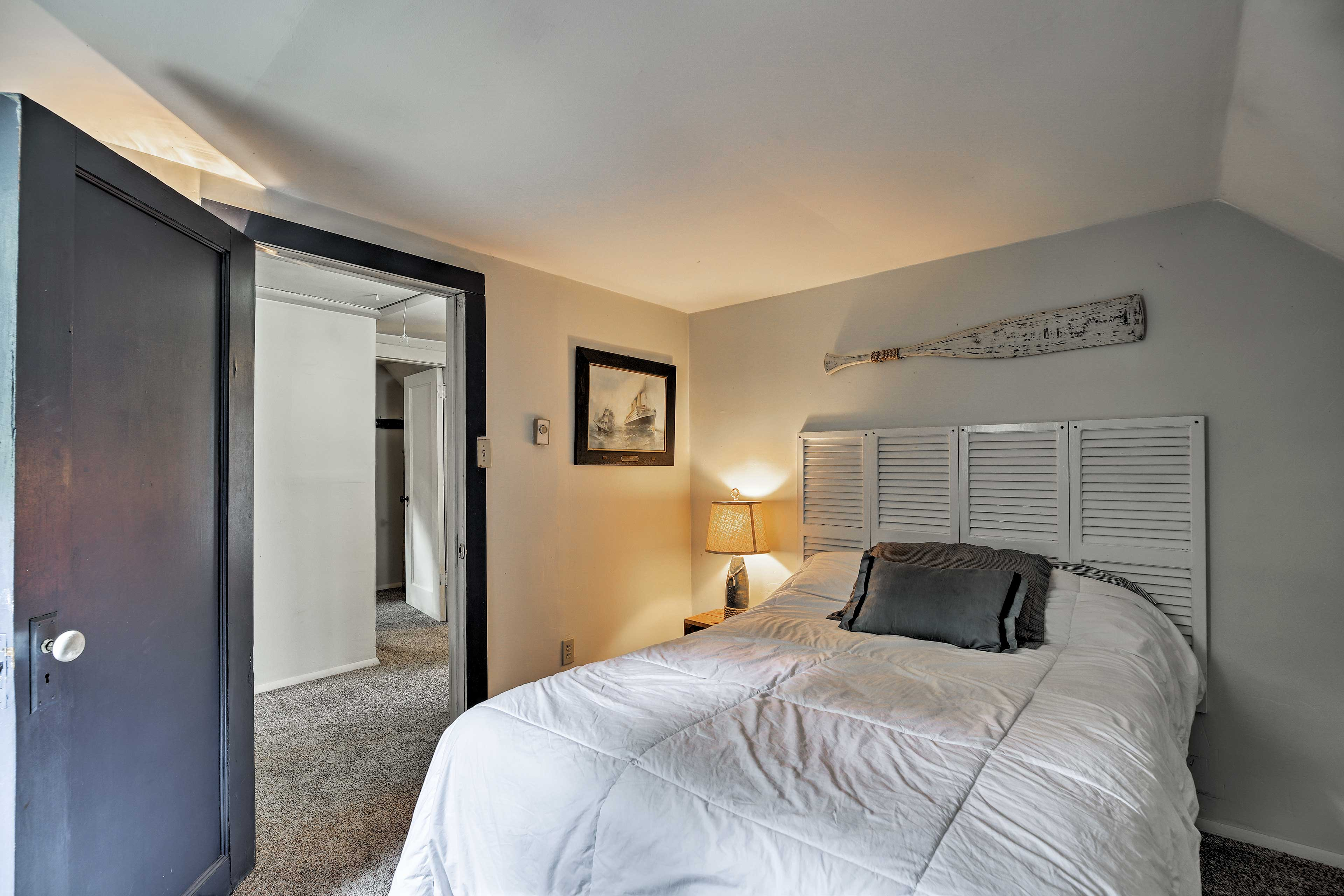 You'll find a full-sized bed in this room.