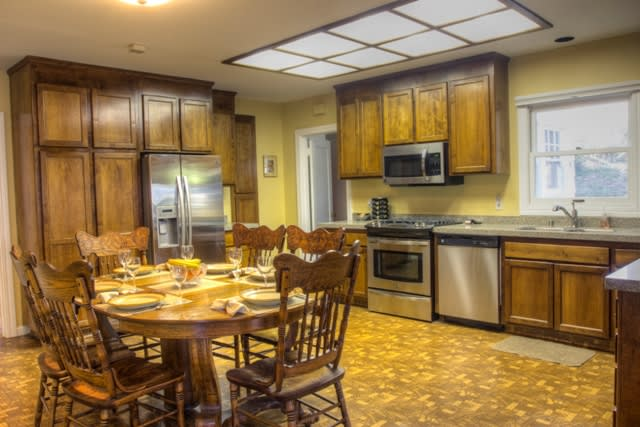 Large dining area within the kitchen