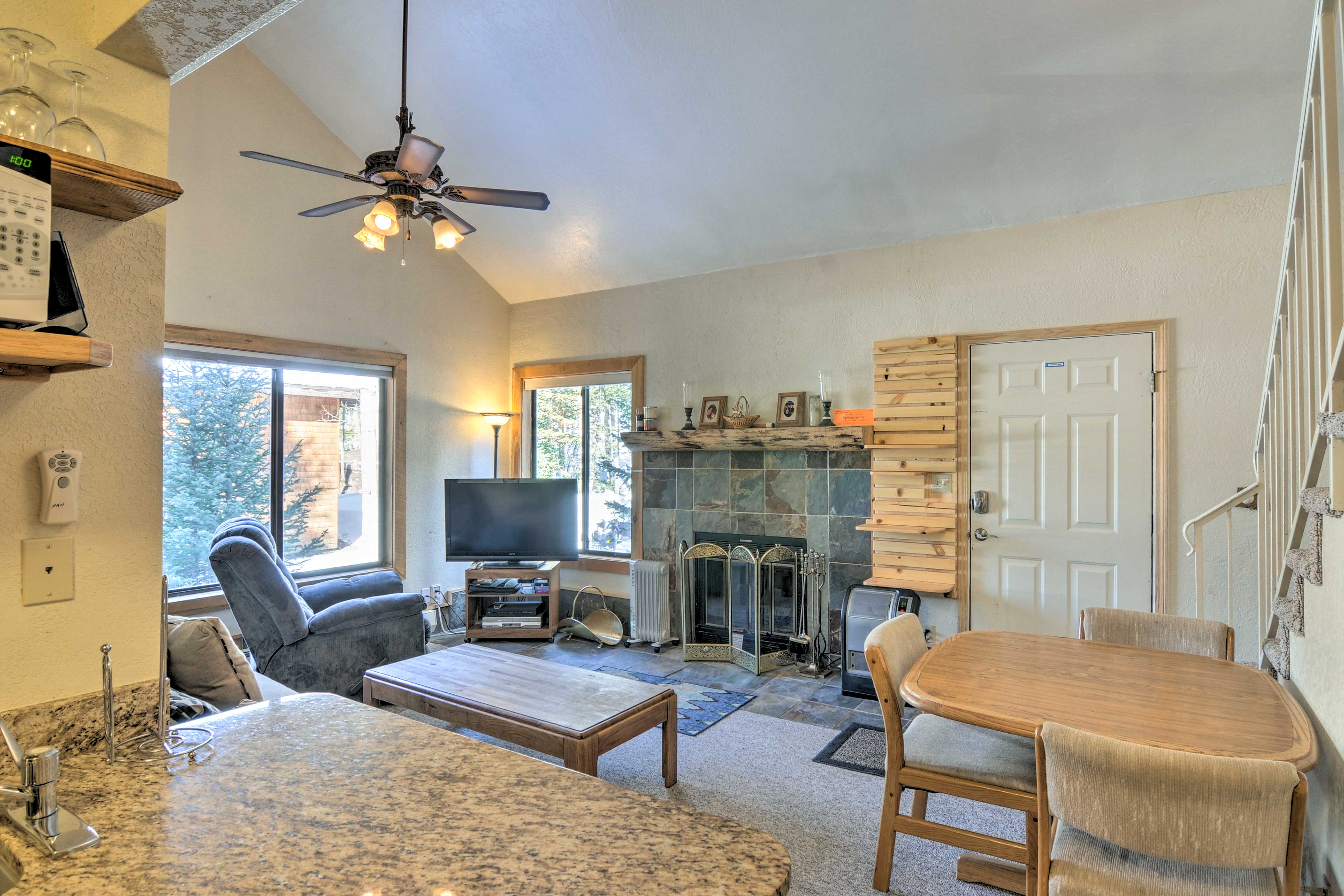 Spread out across 1,100 square feet of living space.