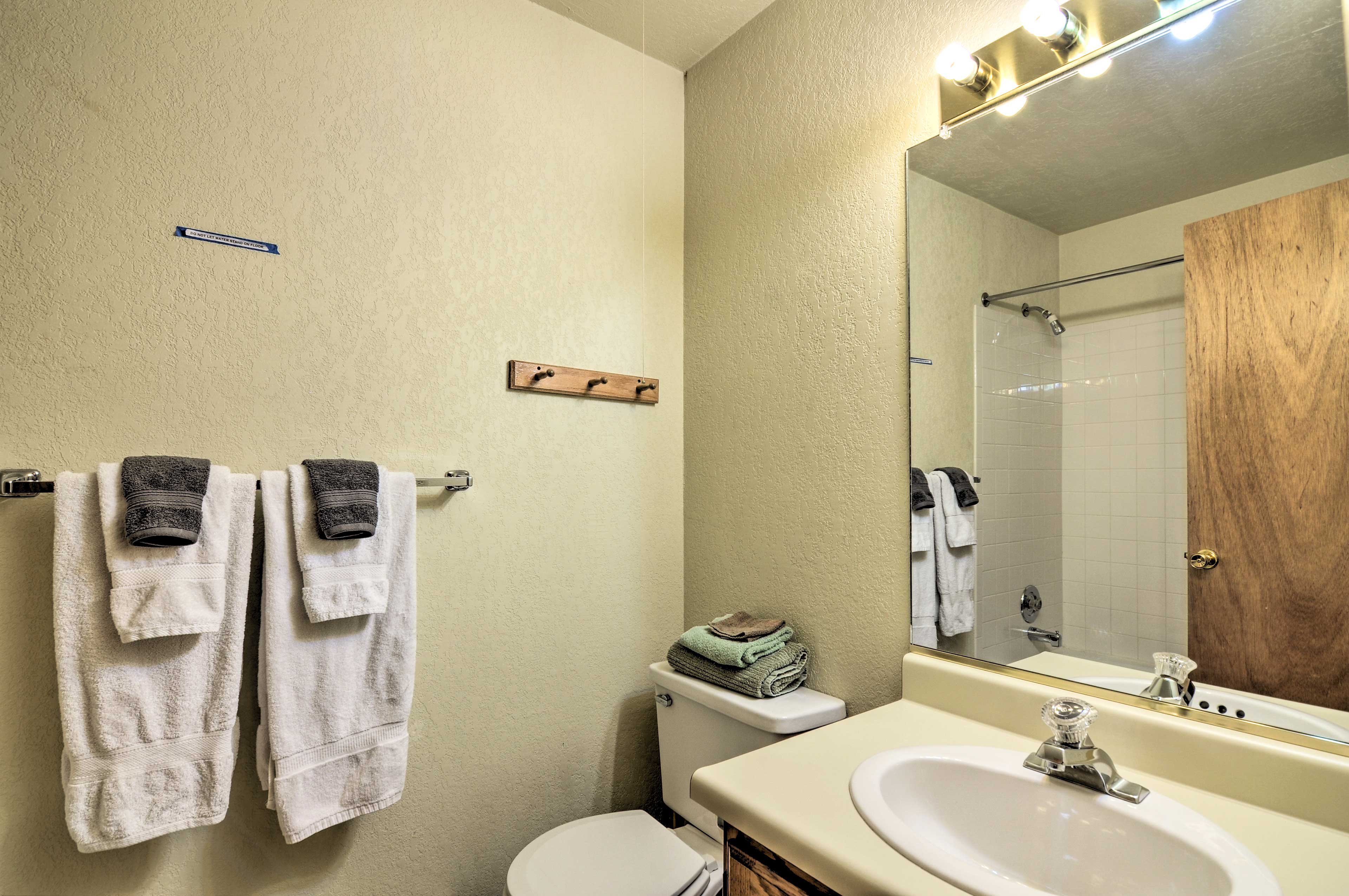 Fresh linens and towels are provided for your stay.