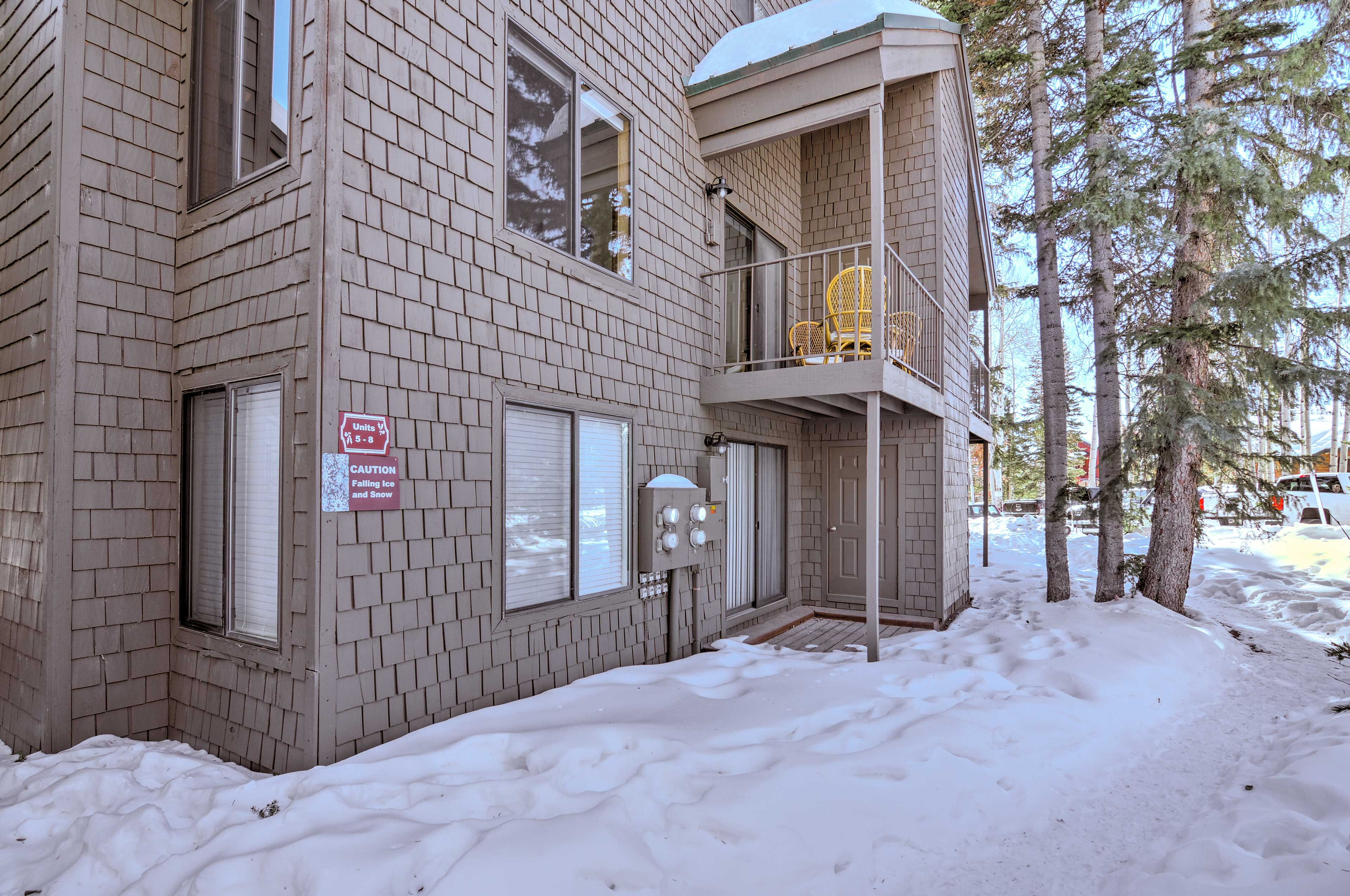 This condo is just steps from the slopes!