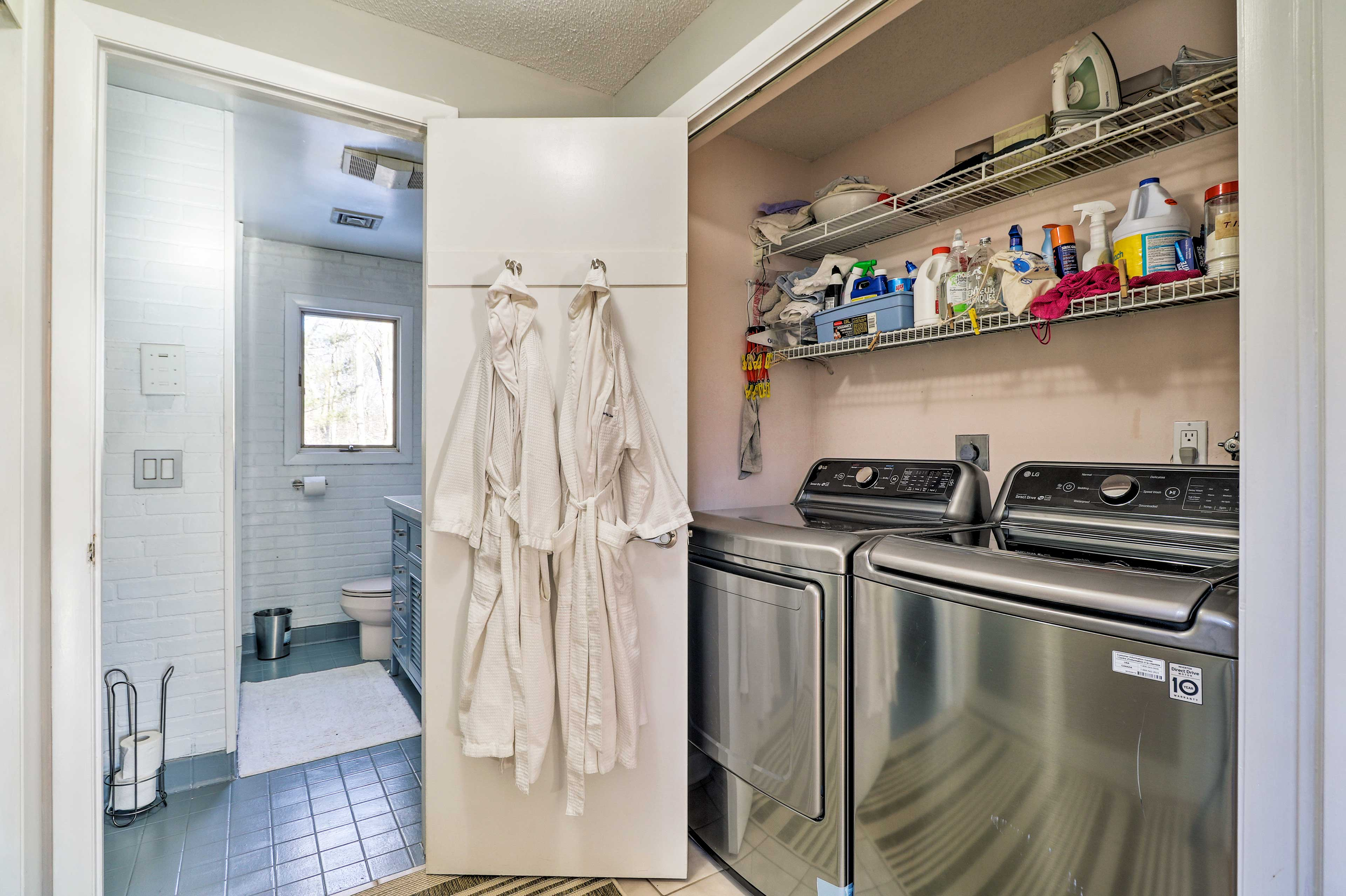 At-home laundry adds an extra homey touch!