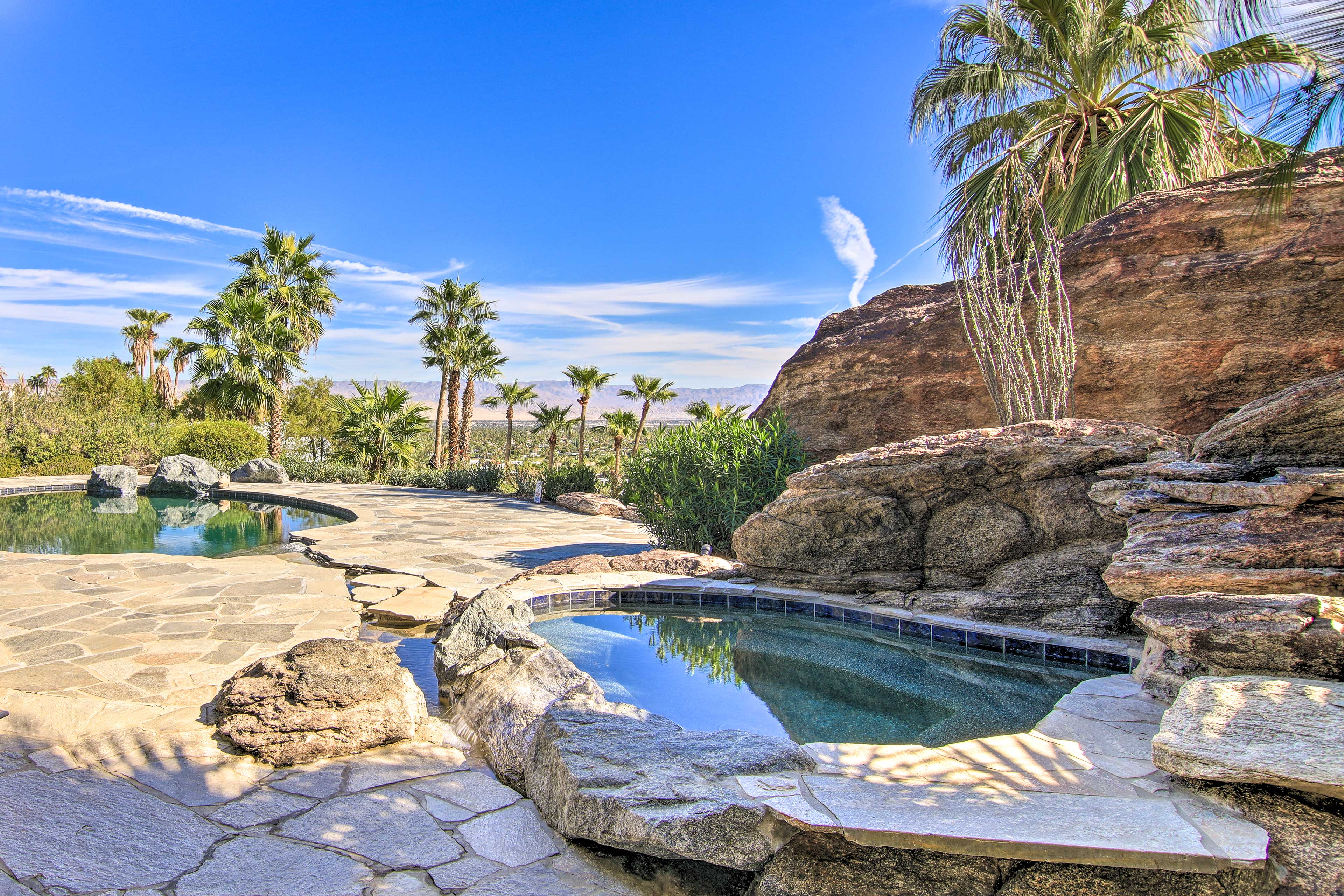 Private Outdoor Oasis | Textured Swimming Pool | Hot Tub | Heated w/ Fee