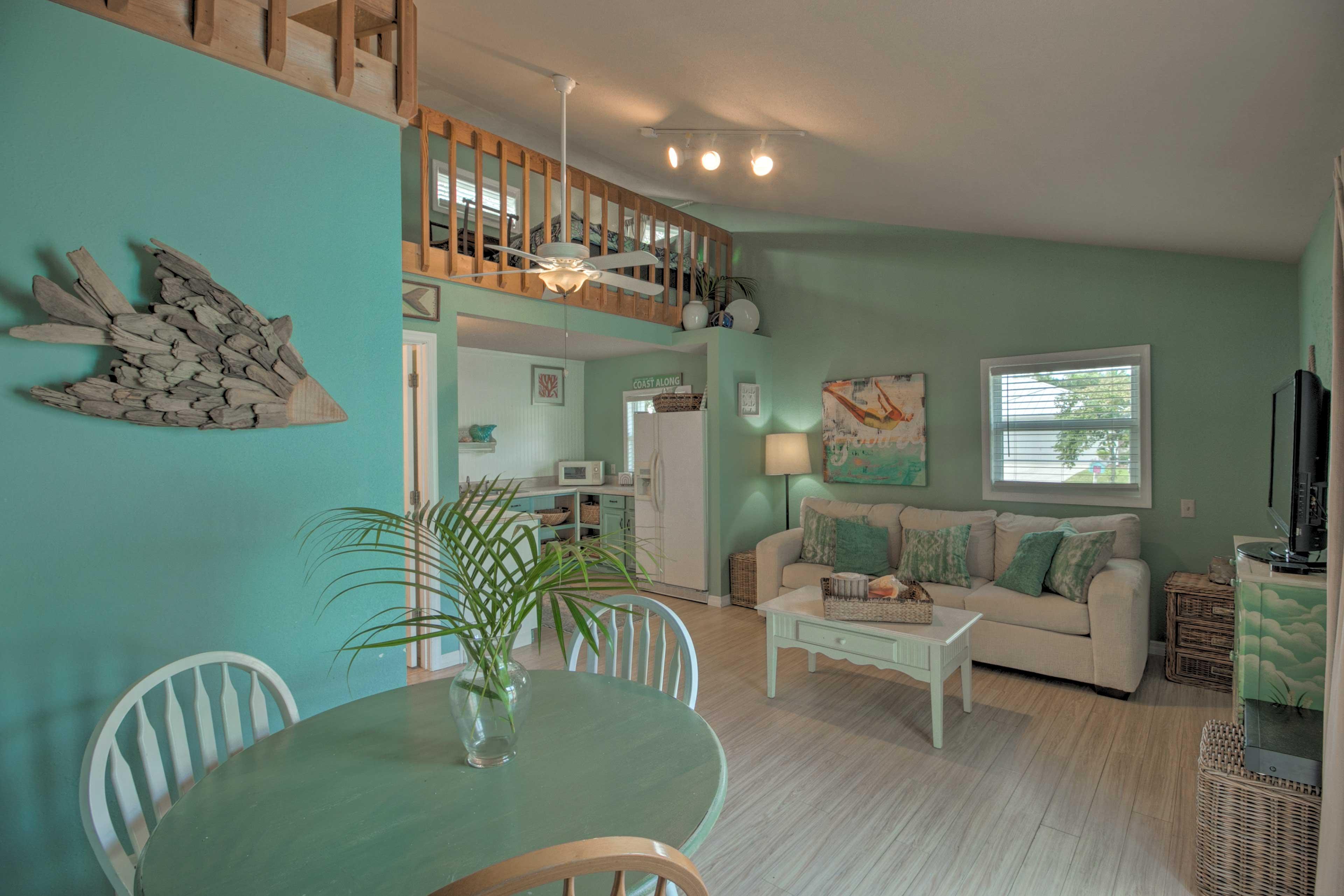 Cottage Interior | Main Level | Open Layout