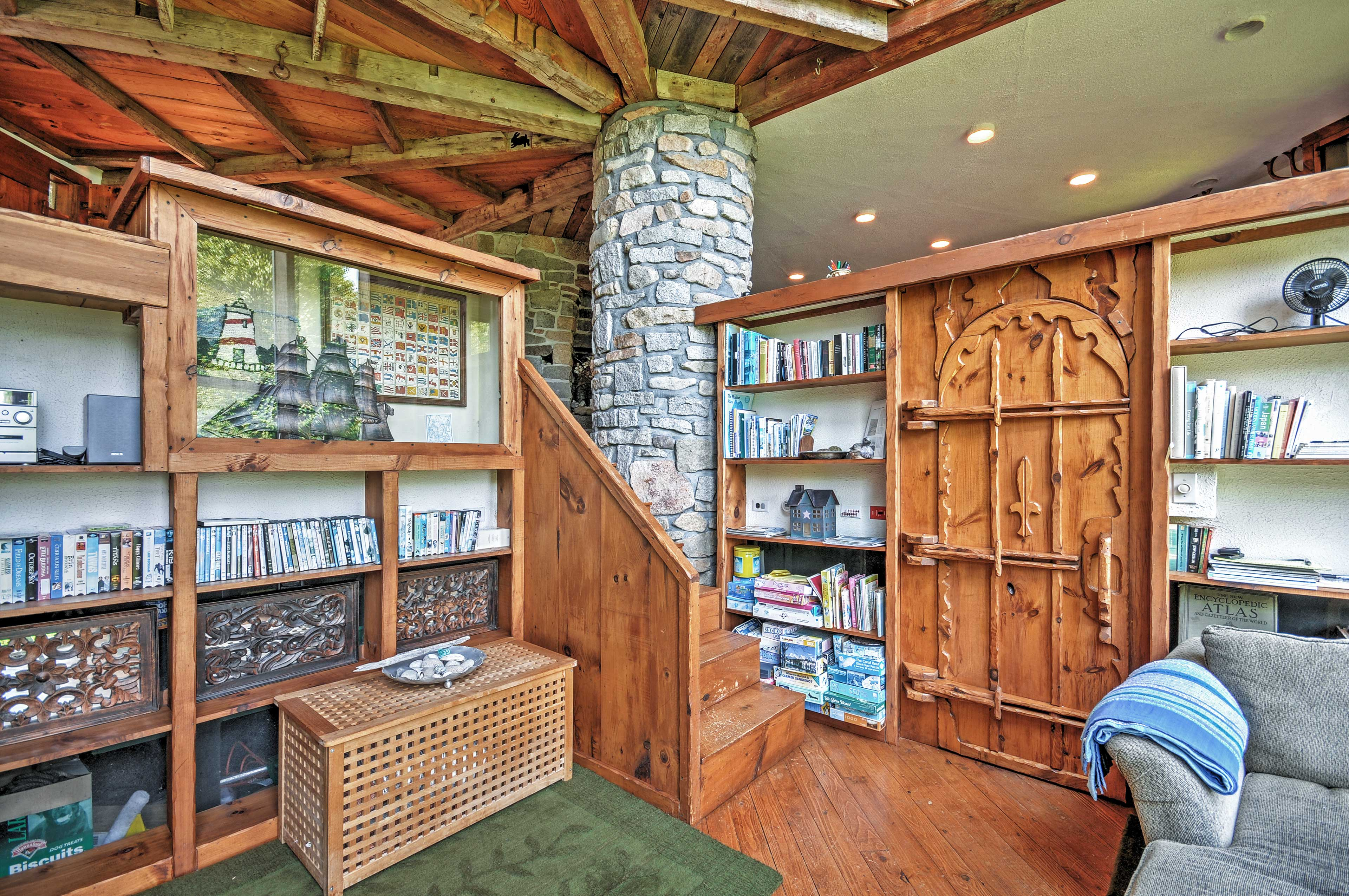 Den | Authentic Stone & Wooden Accents