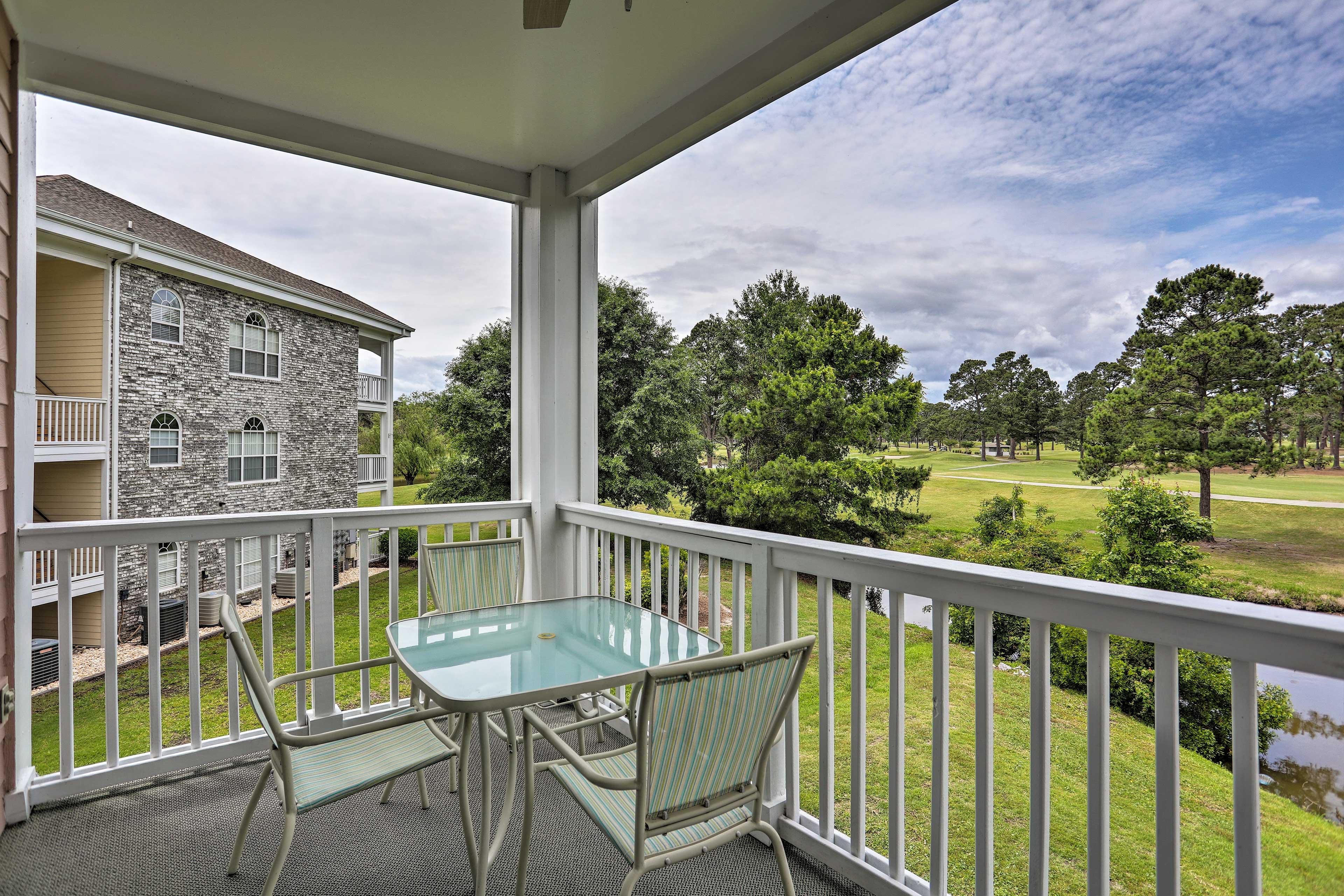 Private Balcony | Golf Course Views