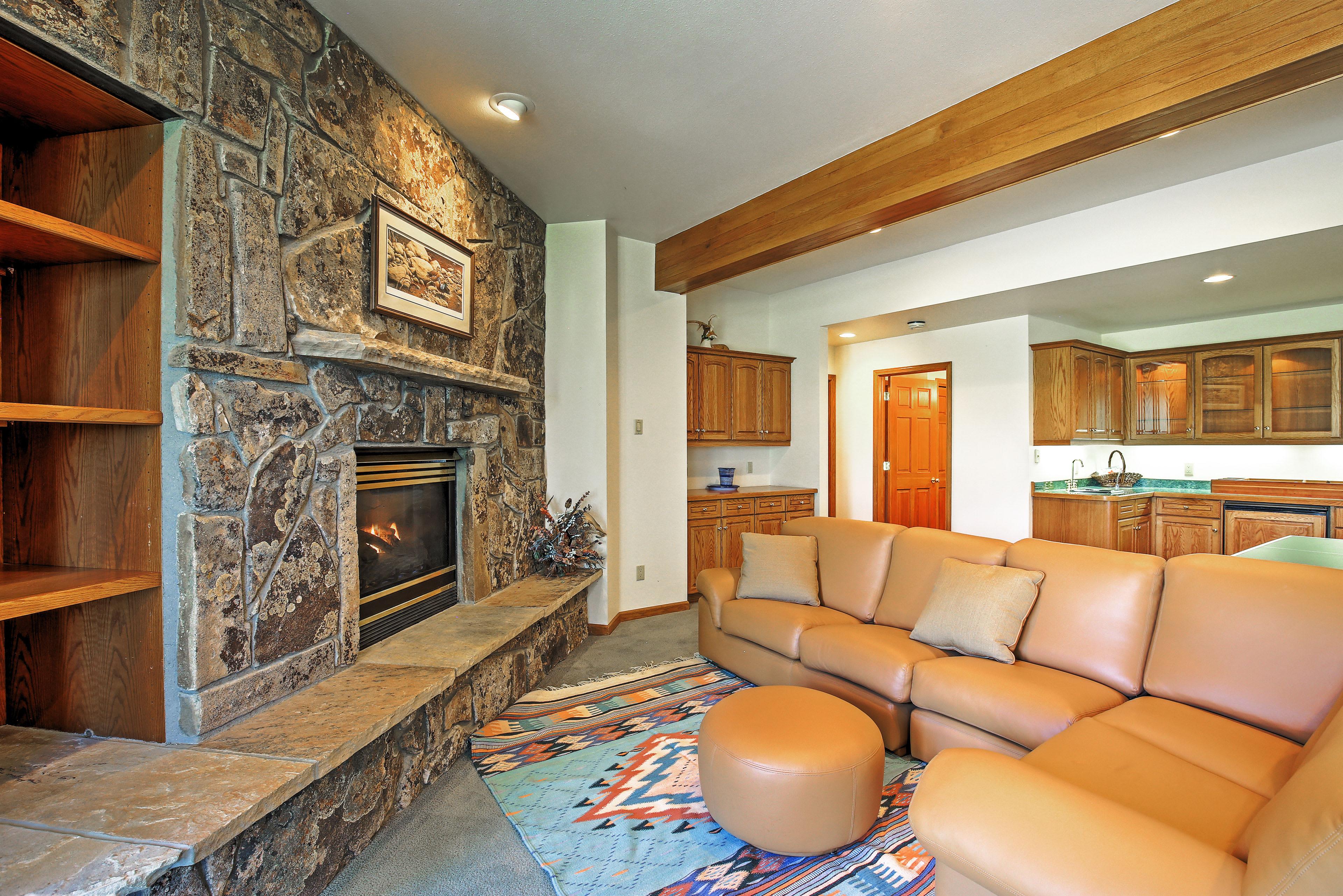 Den | Gas Fireplace