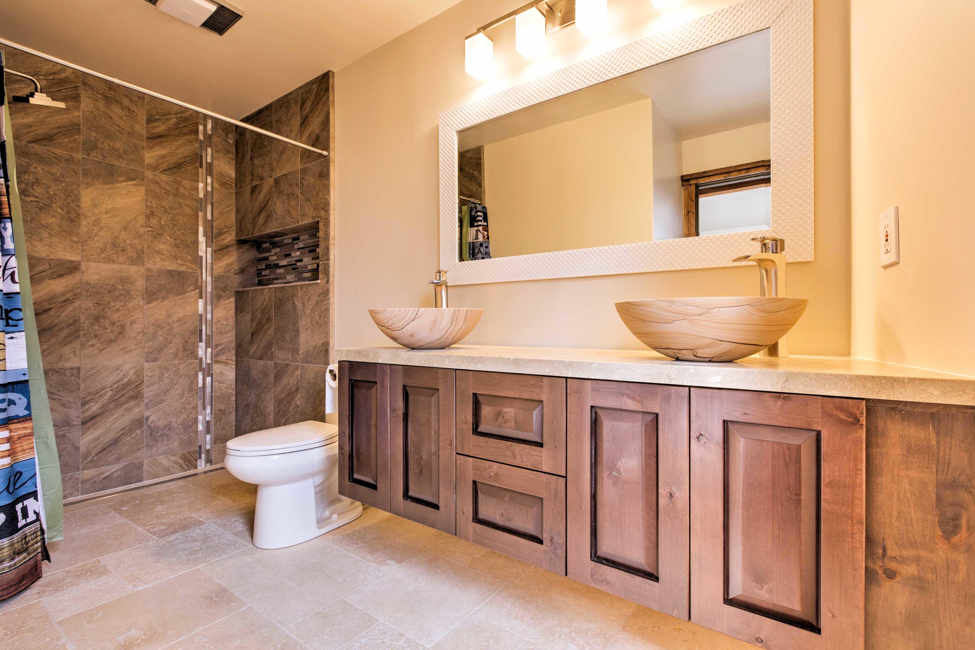 Newly updated bathrooms add elegance.
