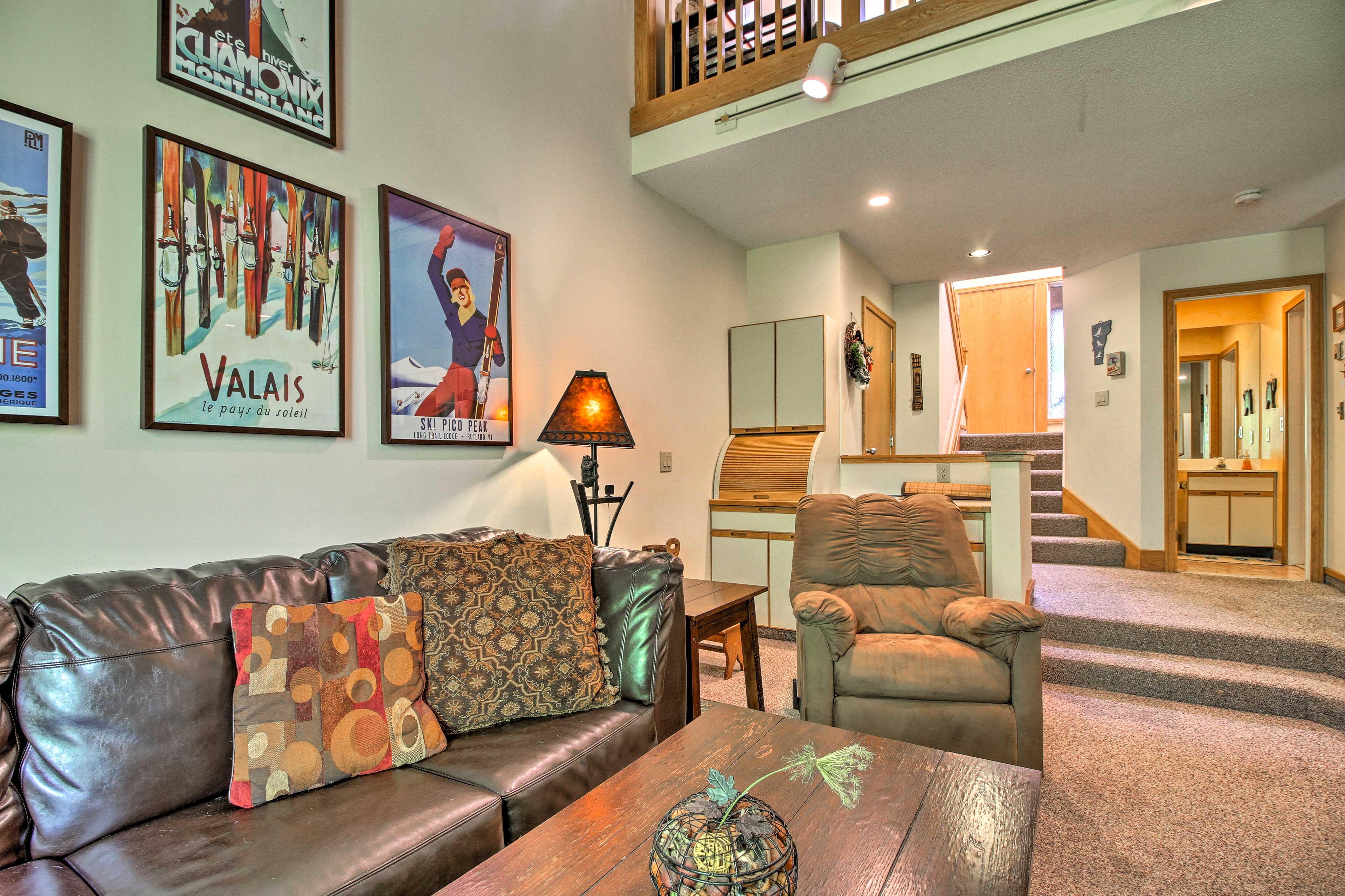 Killington Vacation Rental Condo | 2BR | 2BA | 1,500 Sq Ft | 2 Stories