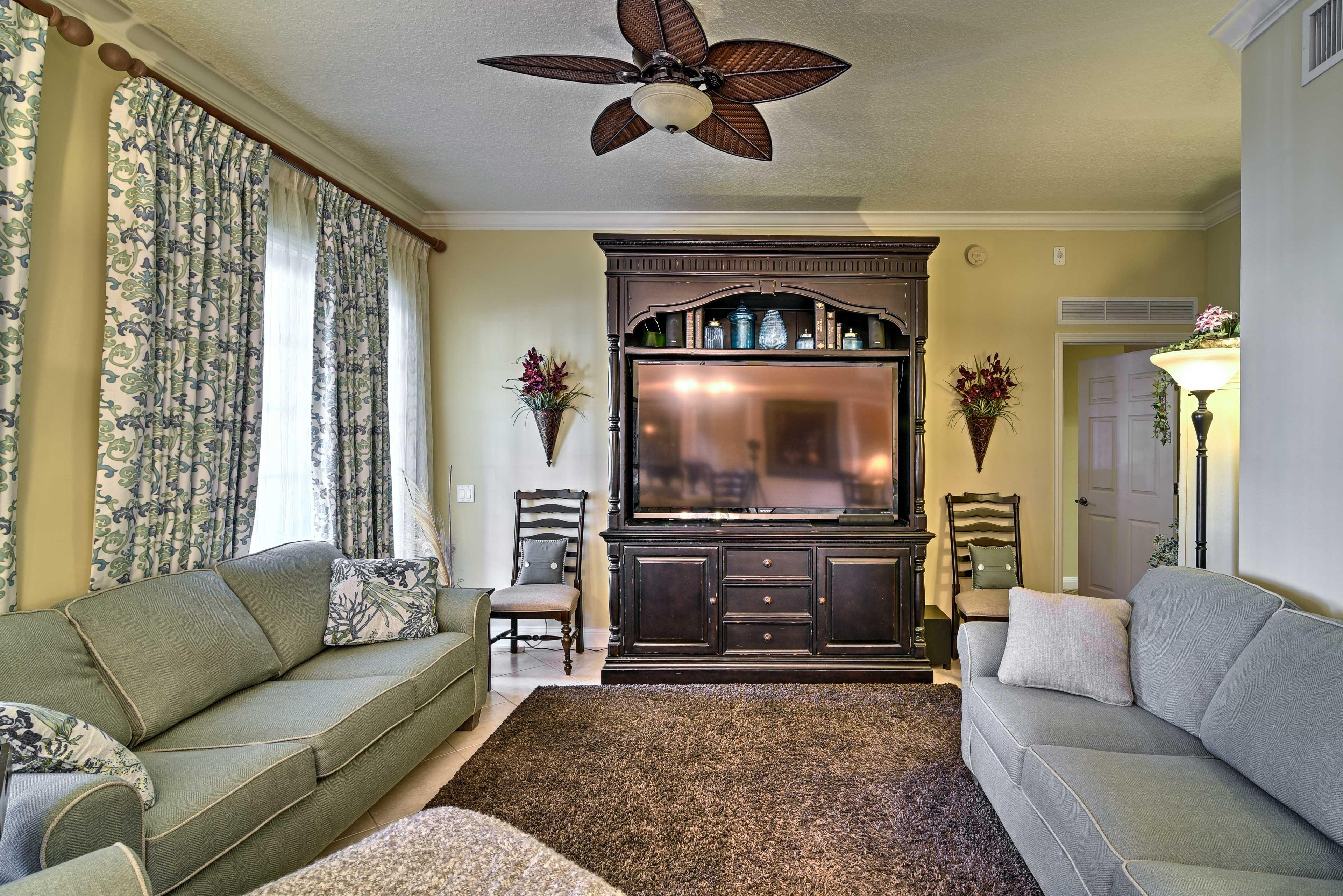 "Living Room | 65"" HD TV"