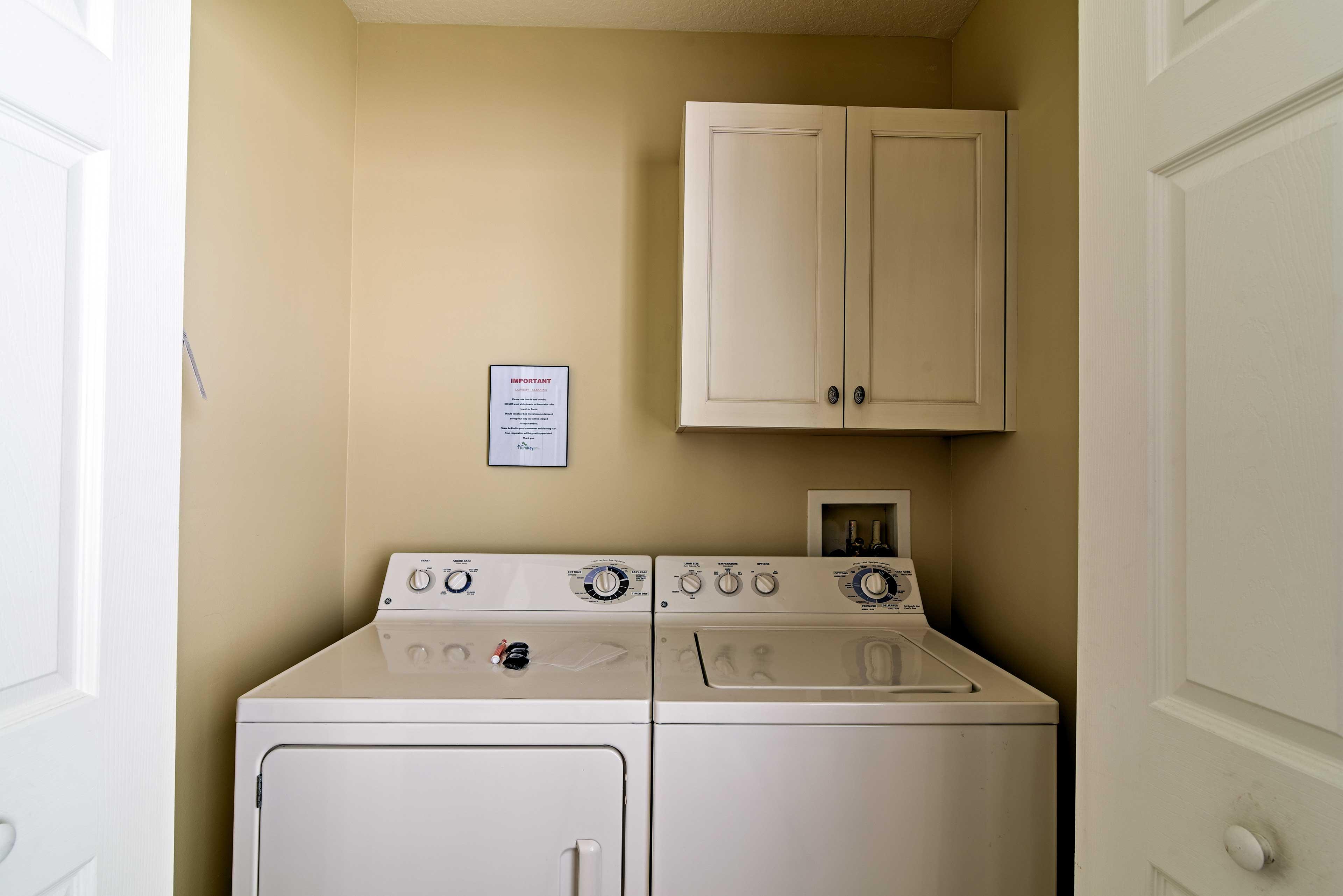 Laundry Room | Iron & Board Provided