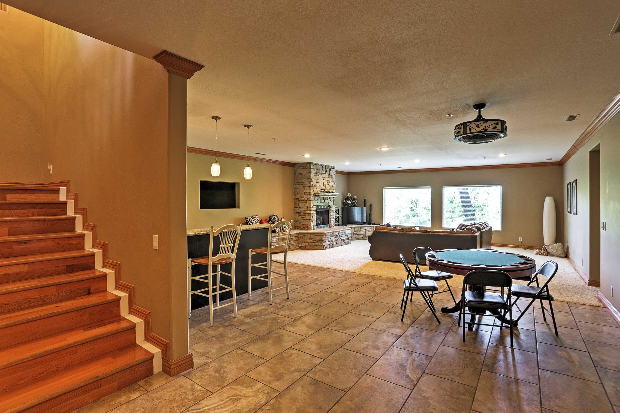 Second Living Room | Stairs Required | Gas Fireplace | Cable TV | Free WiFi
