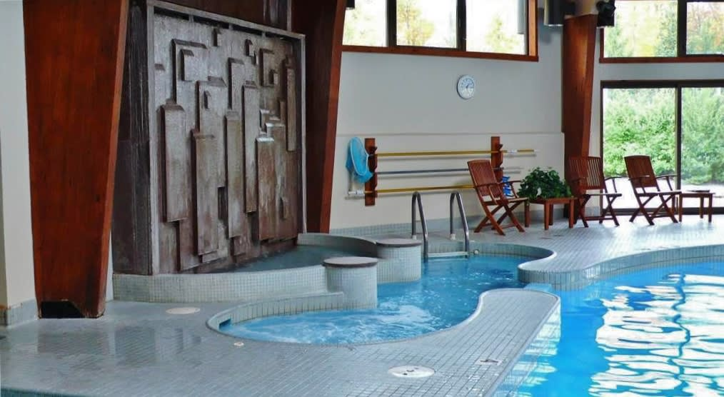 Enjoy complimentary use of the indoor hot tub and swimming pool!