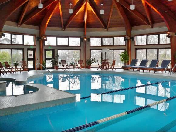 Enjoy a dip in the indoor community when you're not skiing.