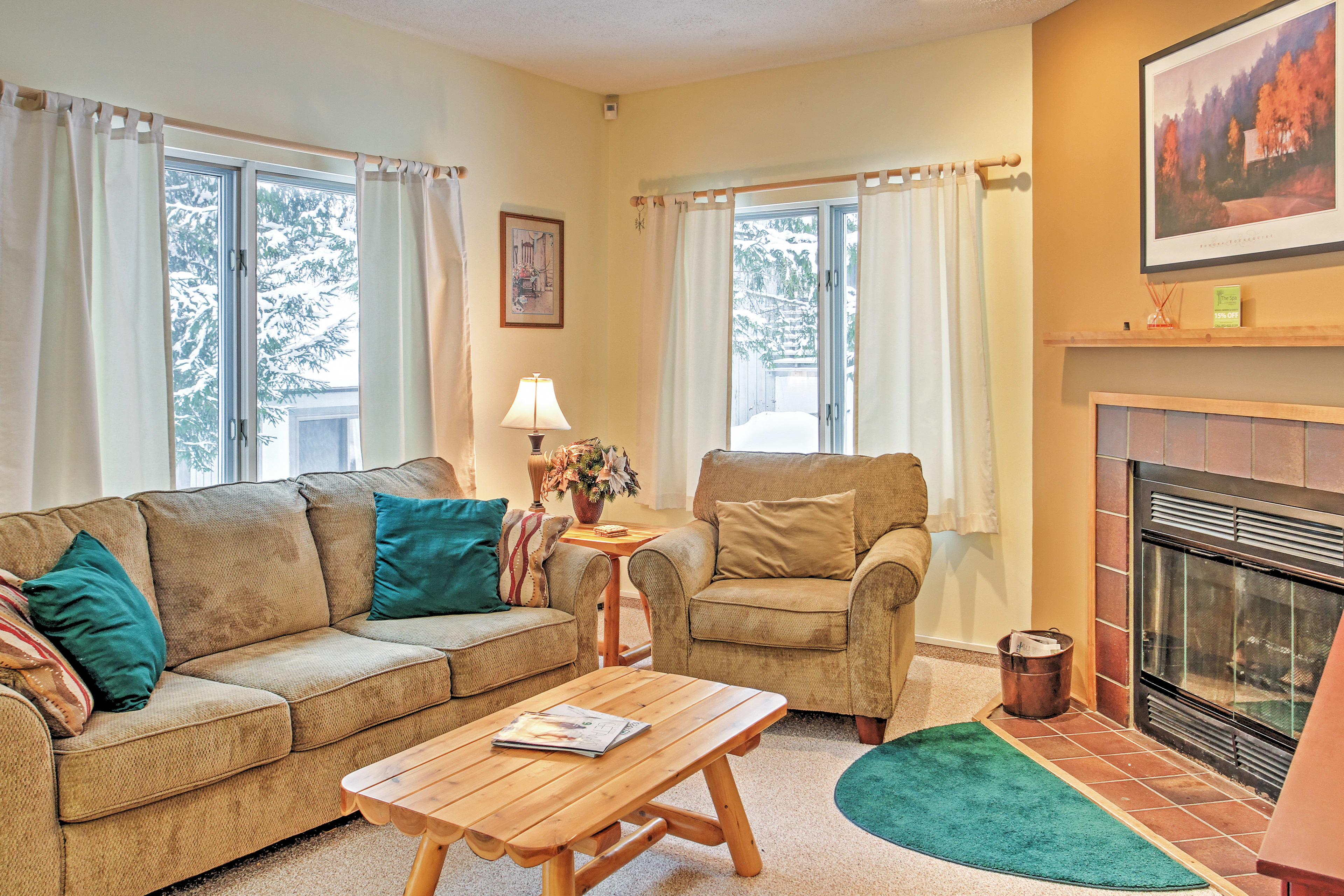There's plenty of comfortable seating for everyone in the living room!