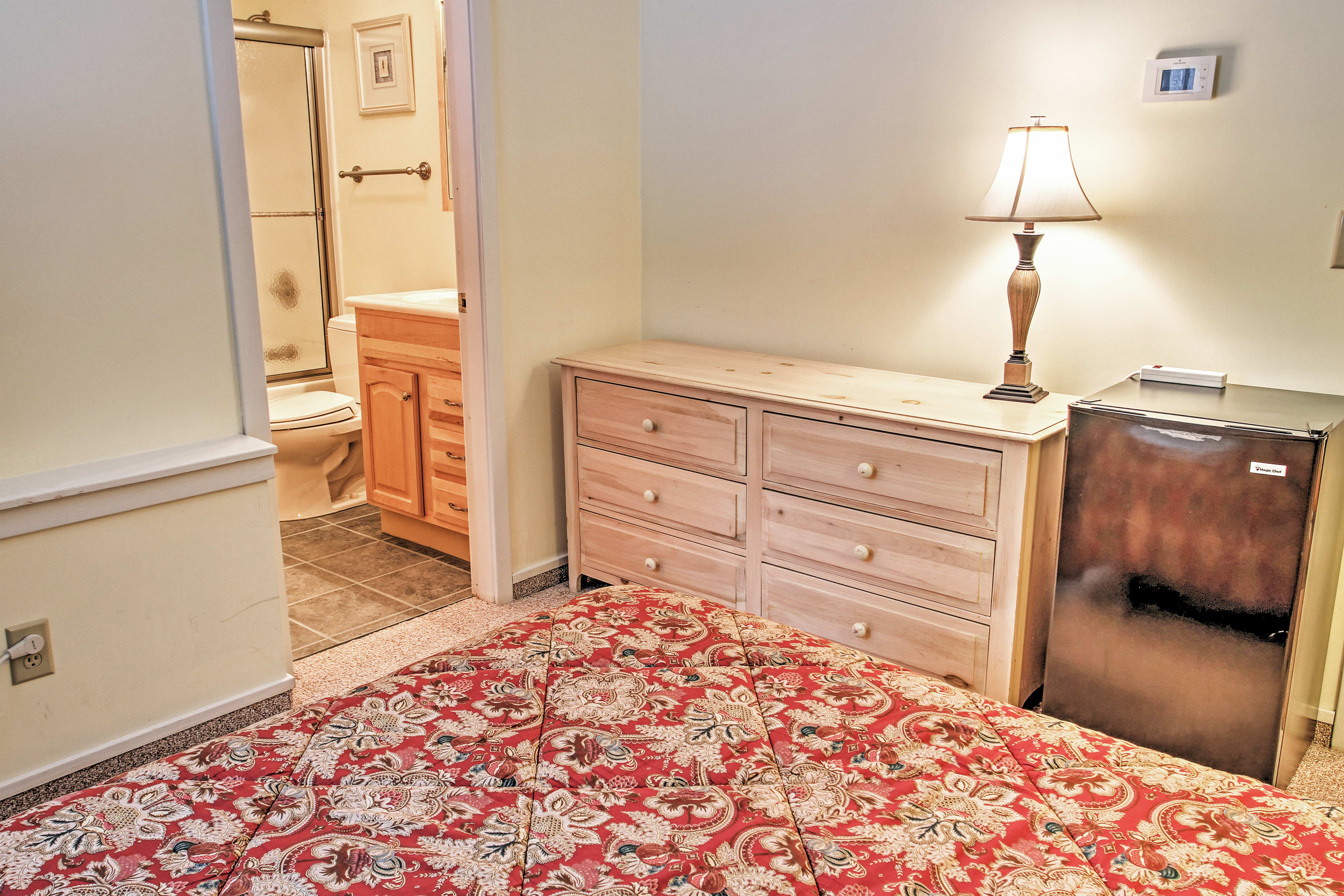 keep your belongings stored in the dresser.