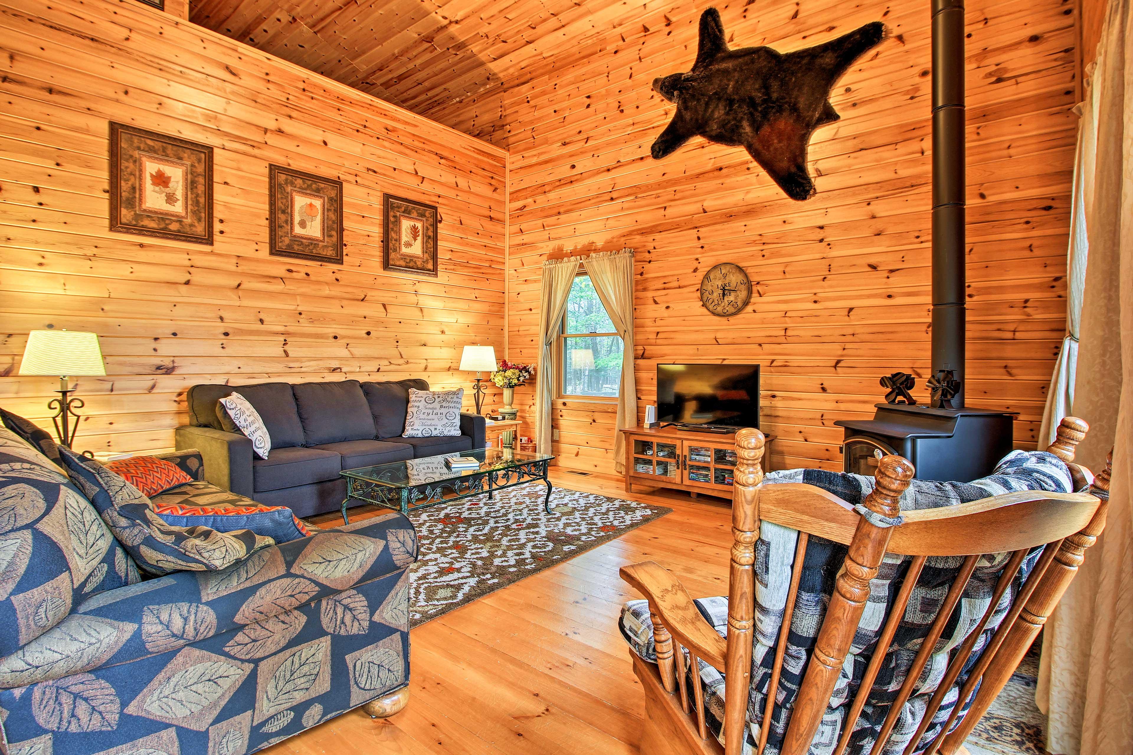 Living Room | Wood-Burning Stove | TV w/ DVD Player