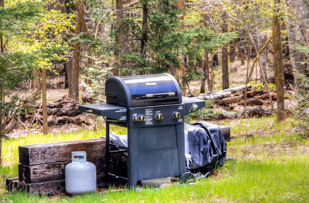 Side Yard | Charcoal Grill