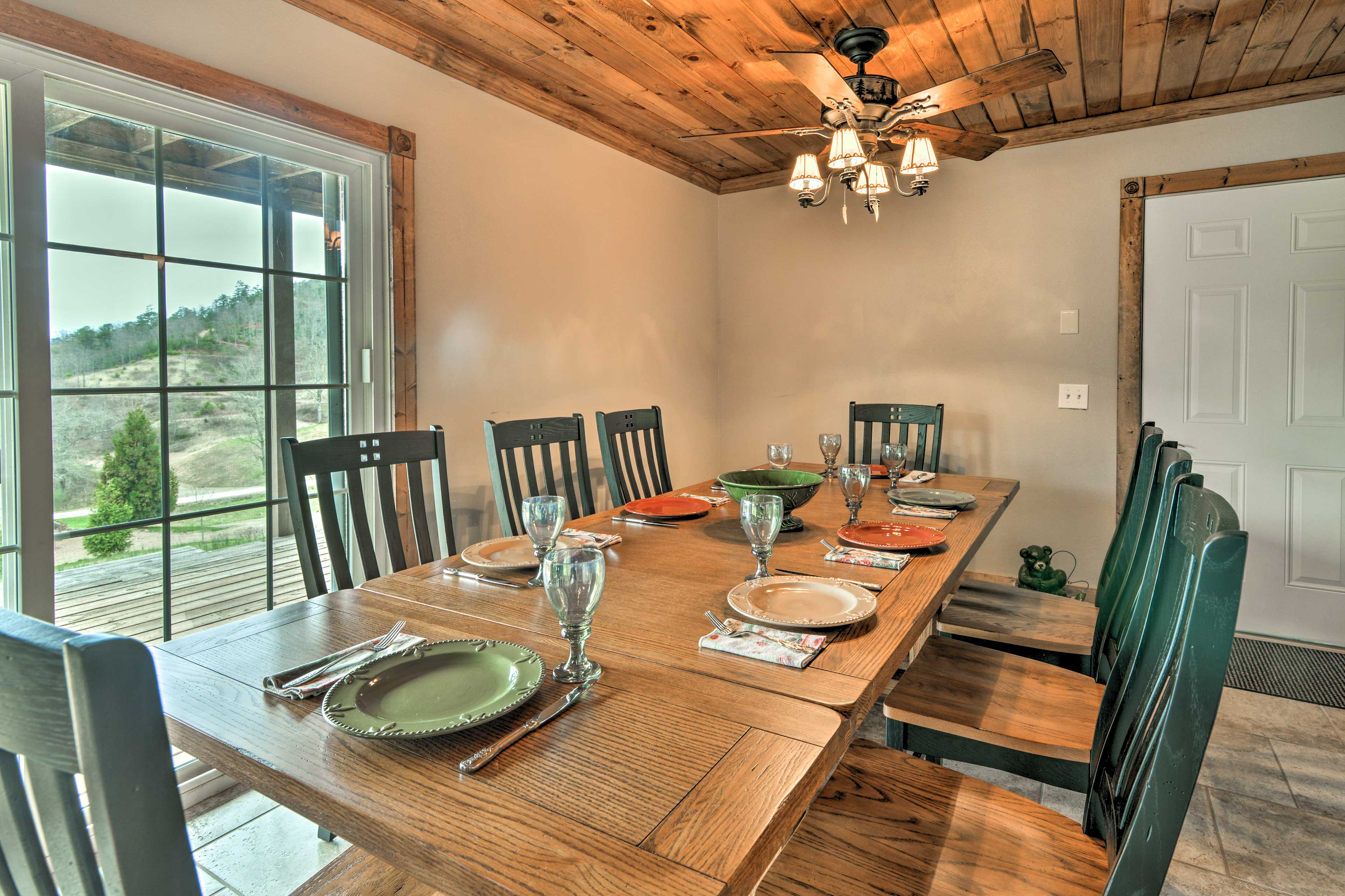 Share meals at the elegant dining table (featuring beautiful views!)