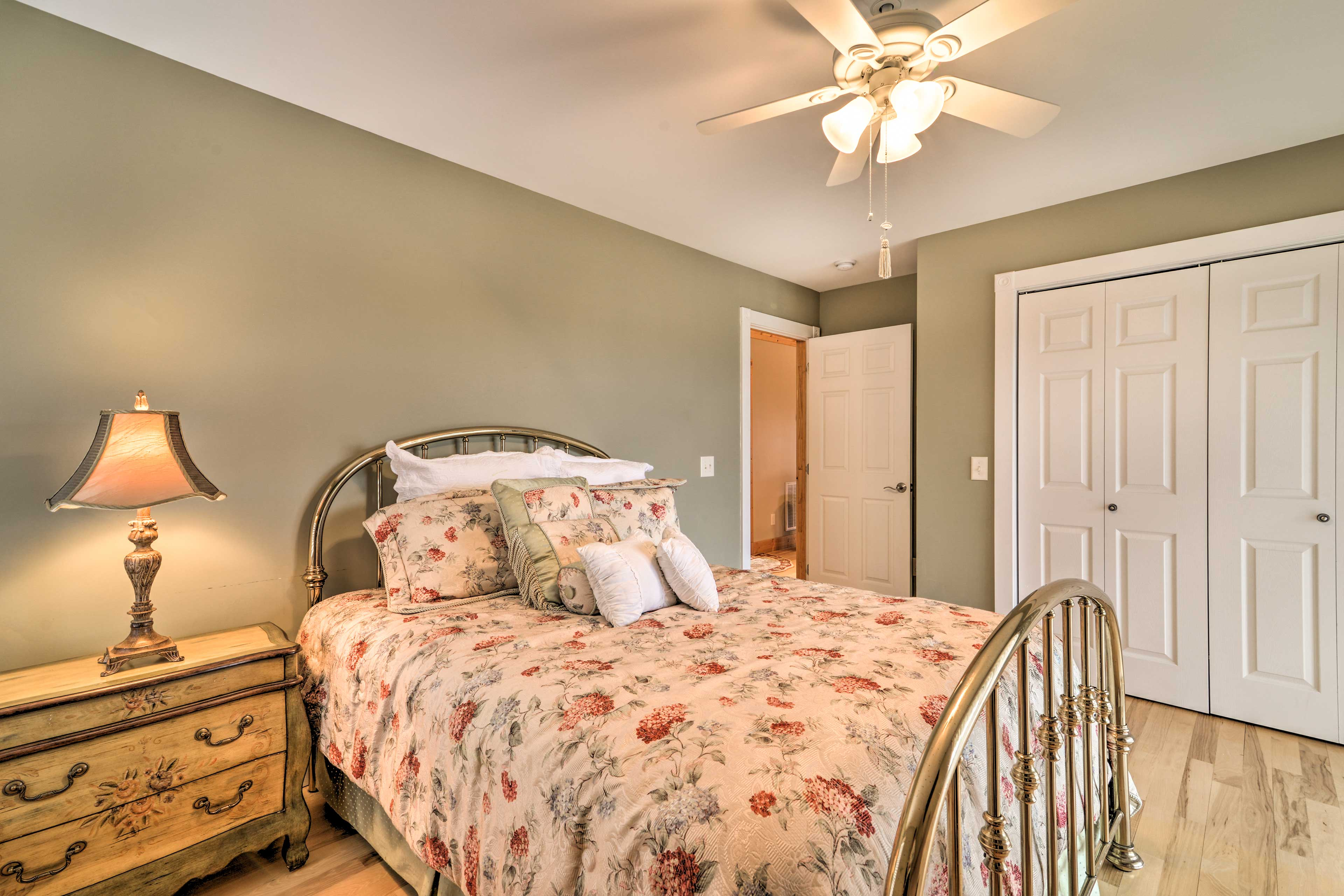 Three separate bedrooms provide ample space and privacy for your travel party.