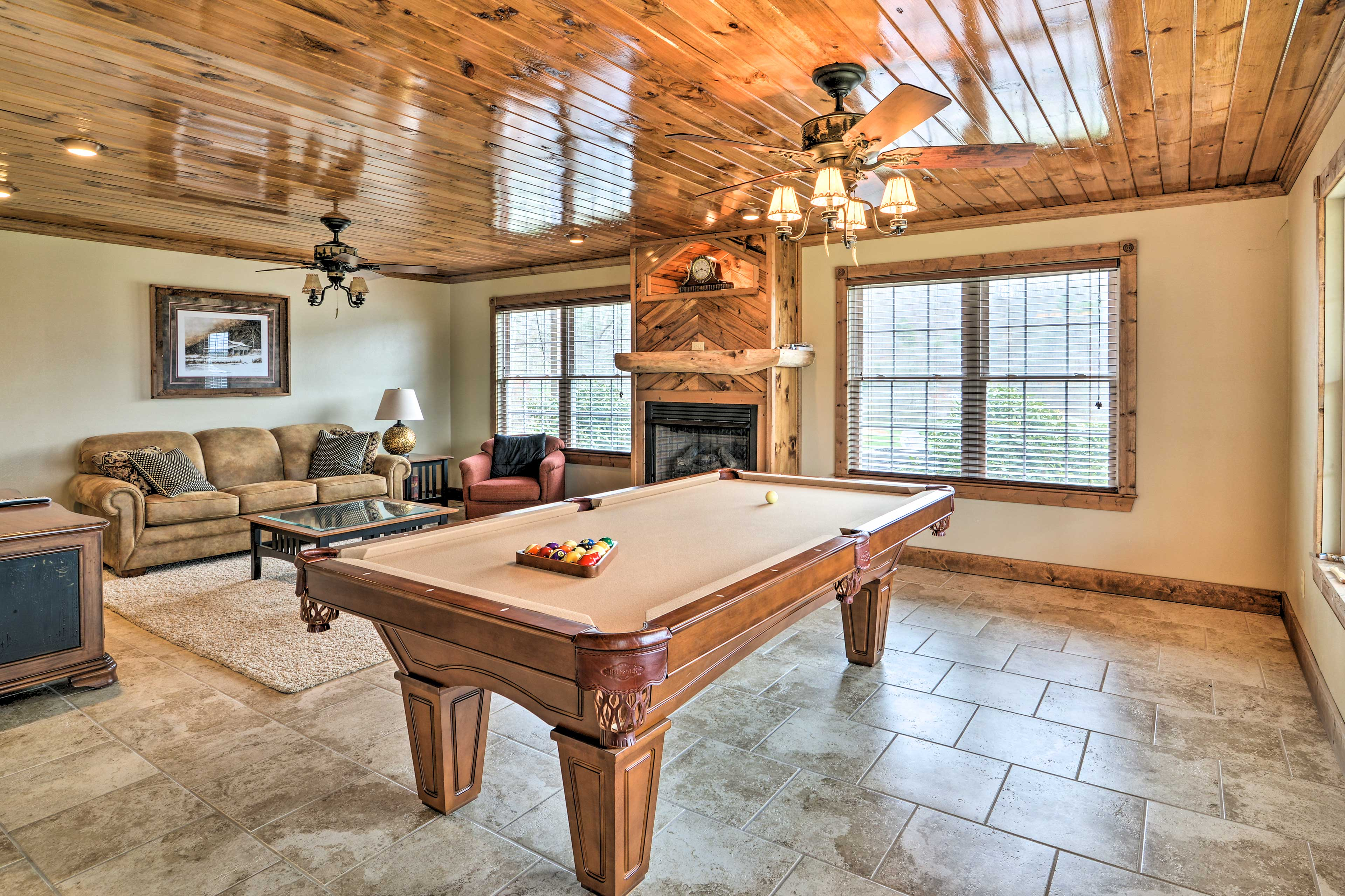 You're sure to spend a lot of time hanging out in the family room!