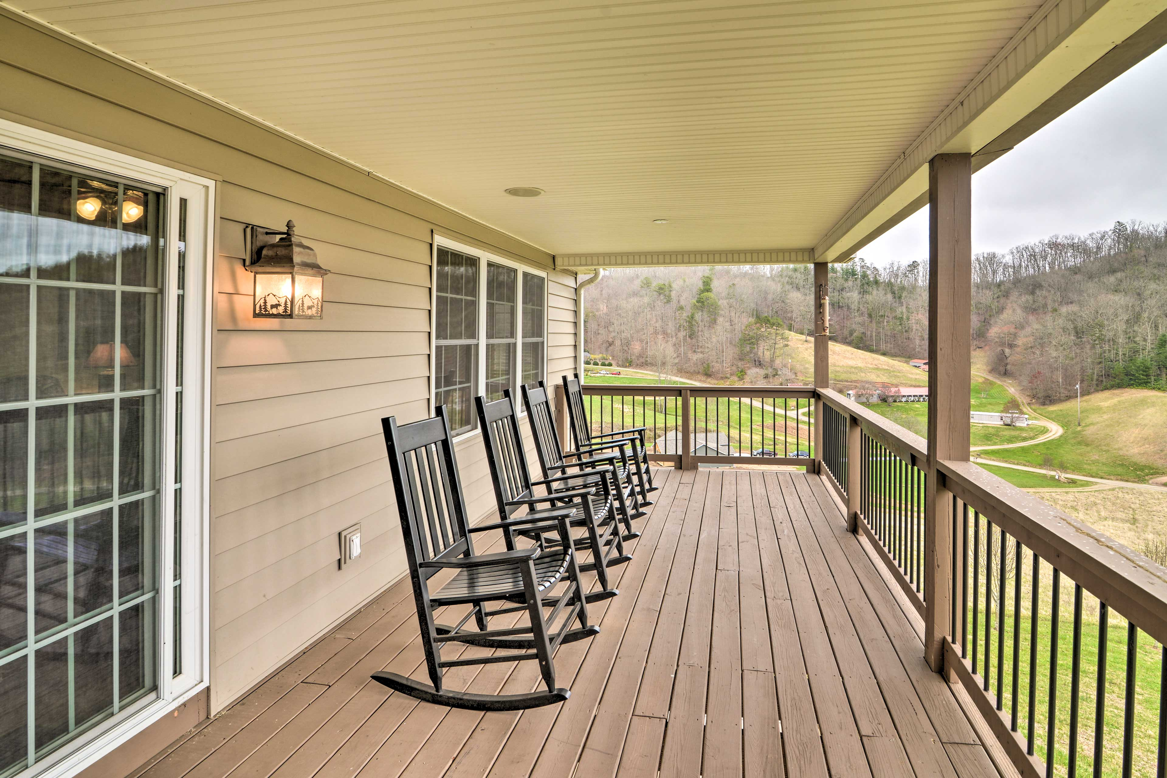 Hang out in the fresh air on one of the home's multiple decks!