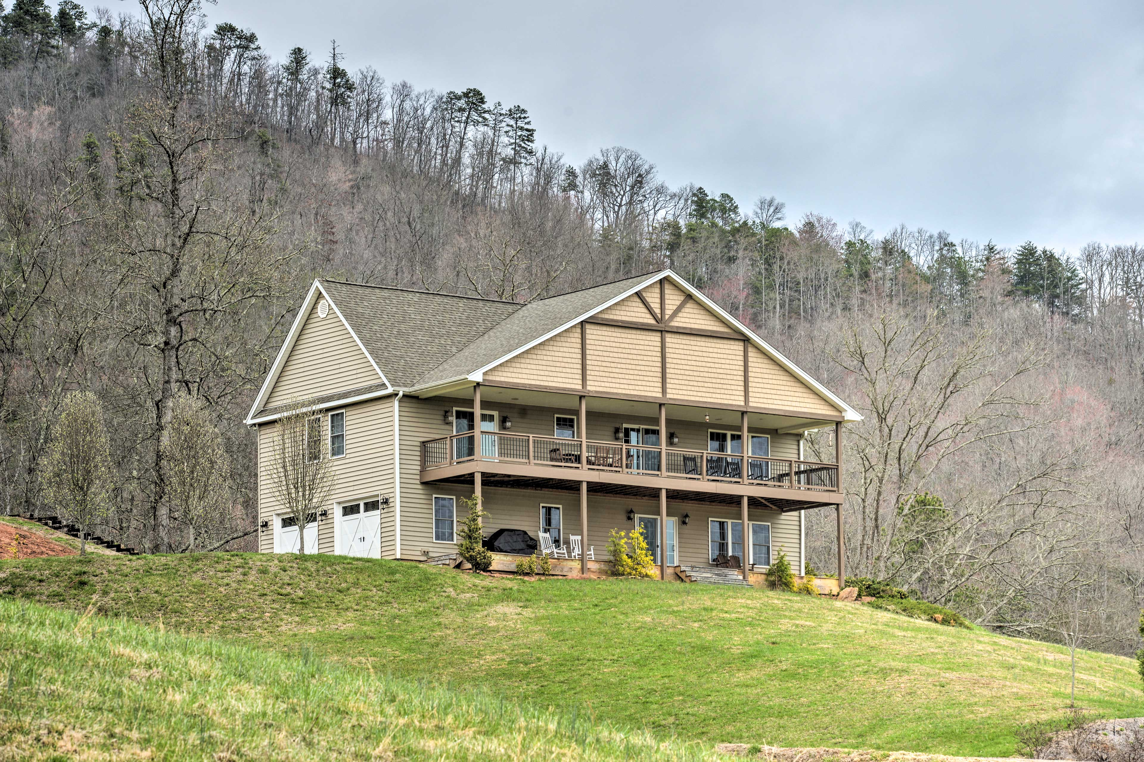 A relaxing retreat awaits you at this beautiful Franklin vacation rental!
