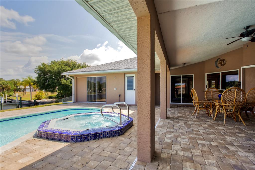 Unwind on the gorgeous lanai next to the private pool with spa.
