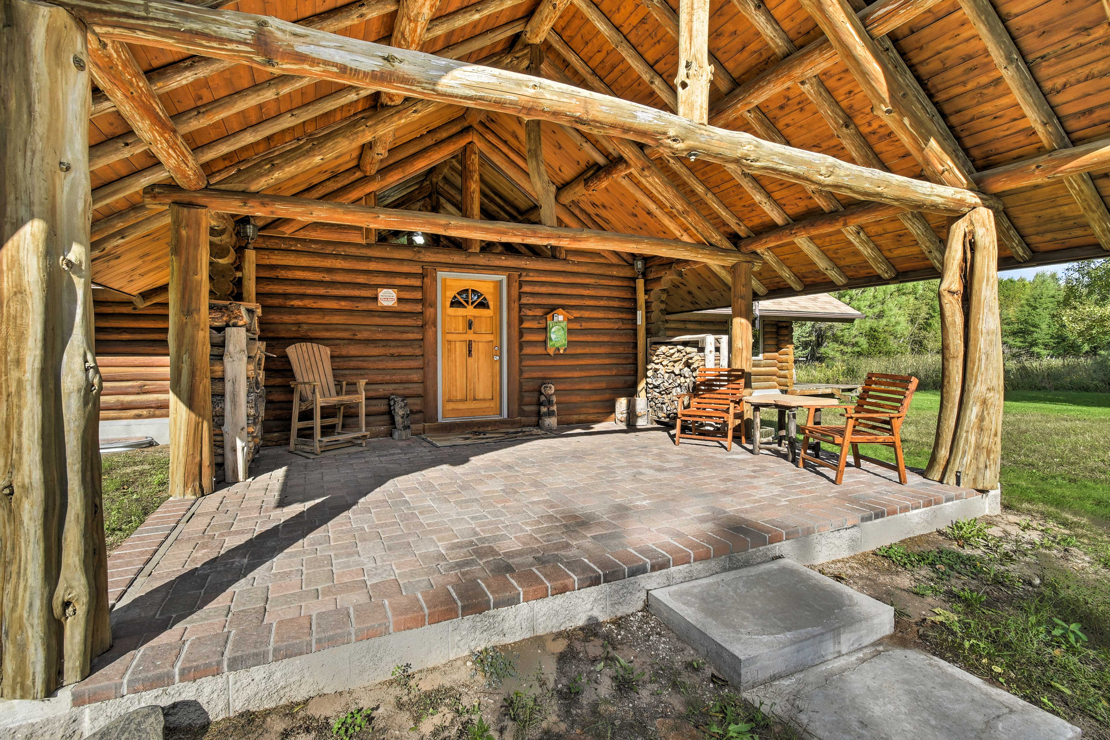 Cabin Exterior | Furnished Patio