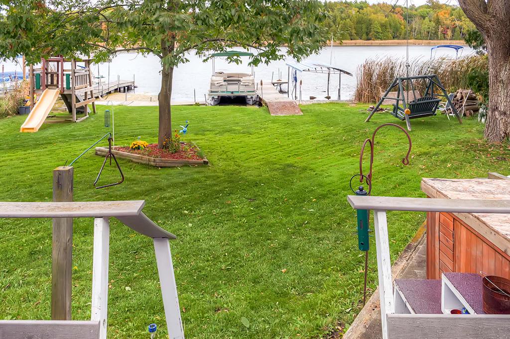 Backyard   Private Dock   On Long Lake