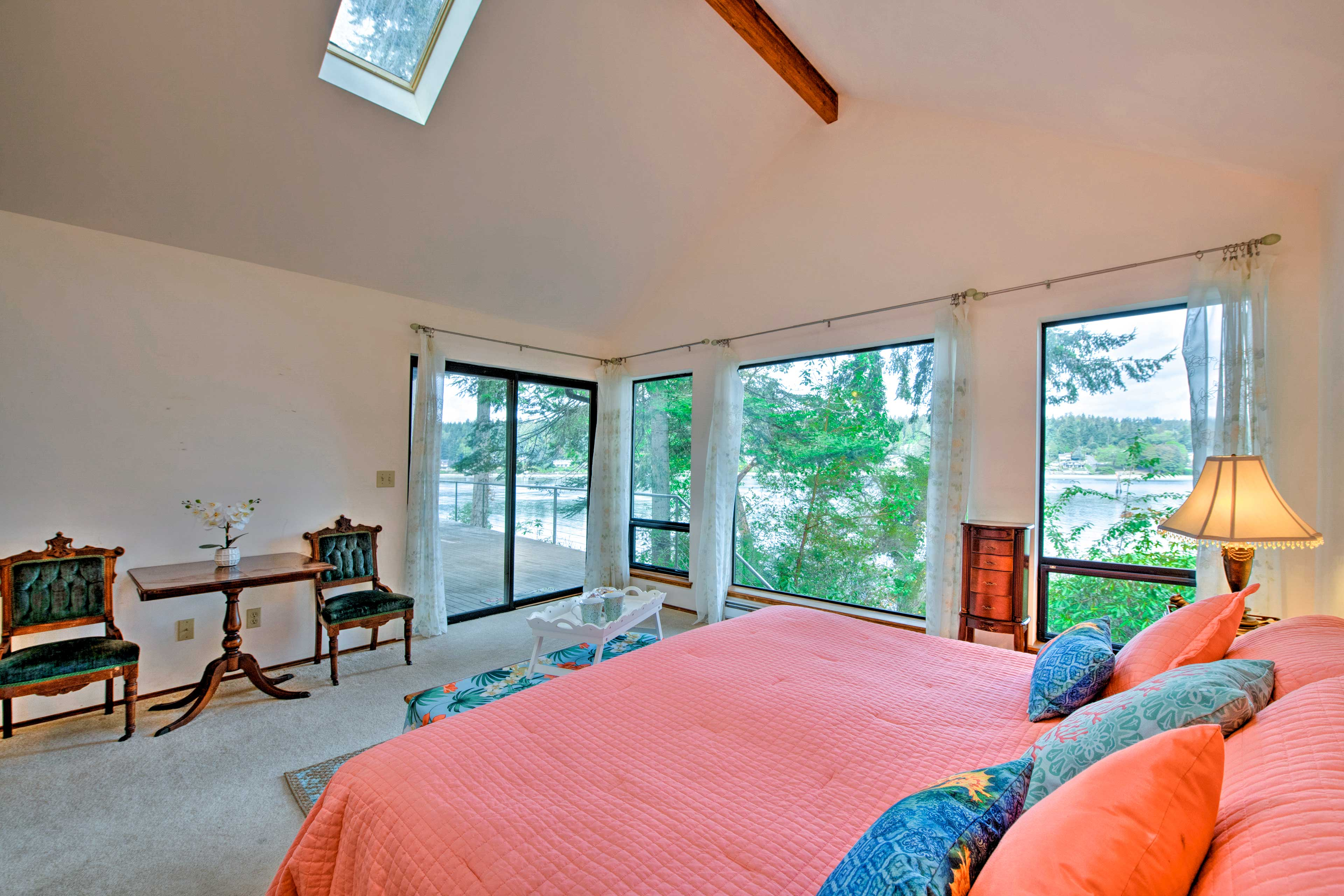 Master Bedroom | Linens Provided | Access to Wraparound Deck