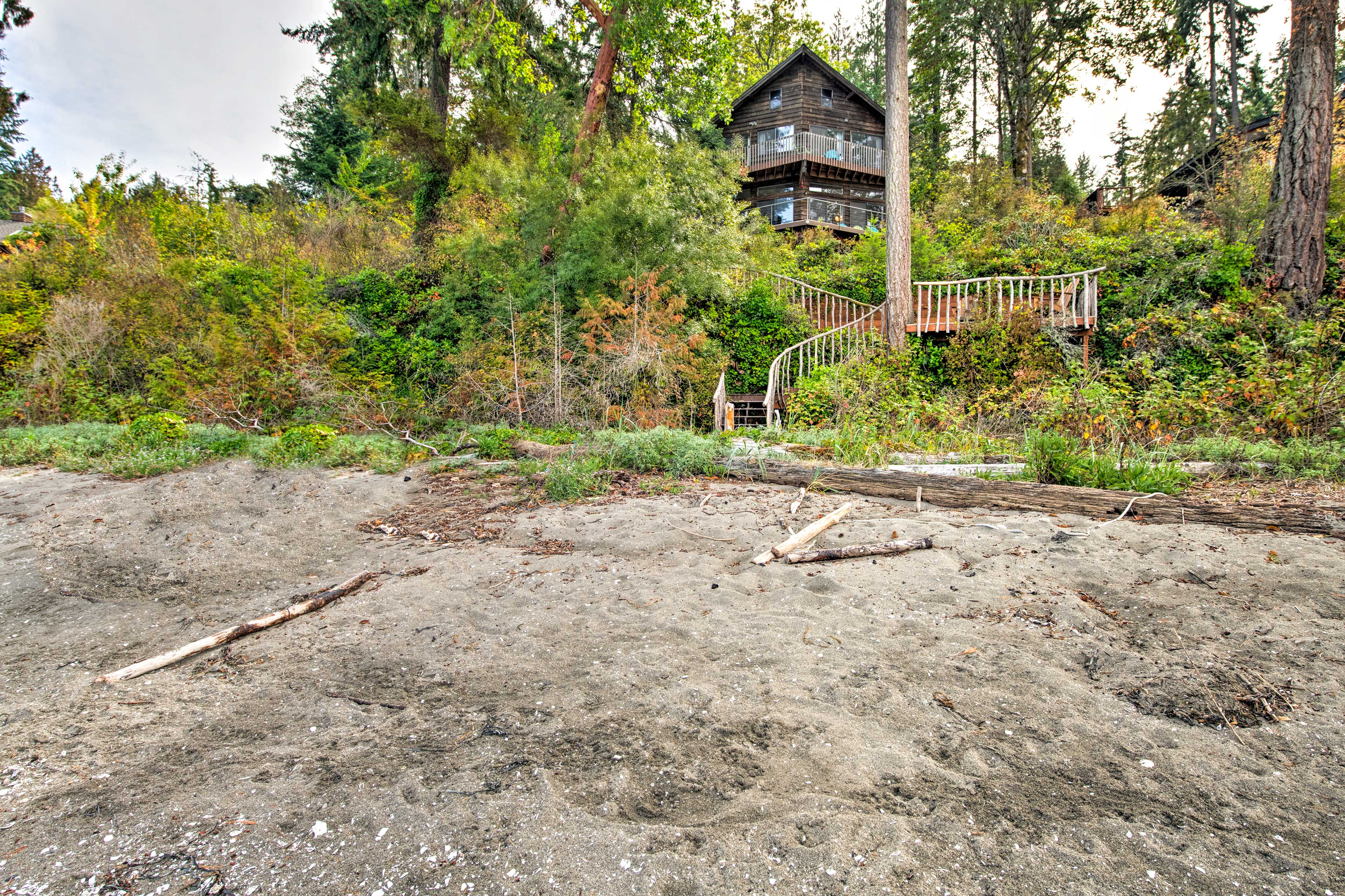 Home Exterior | Private Beach Access | Stairs Required