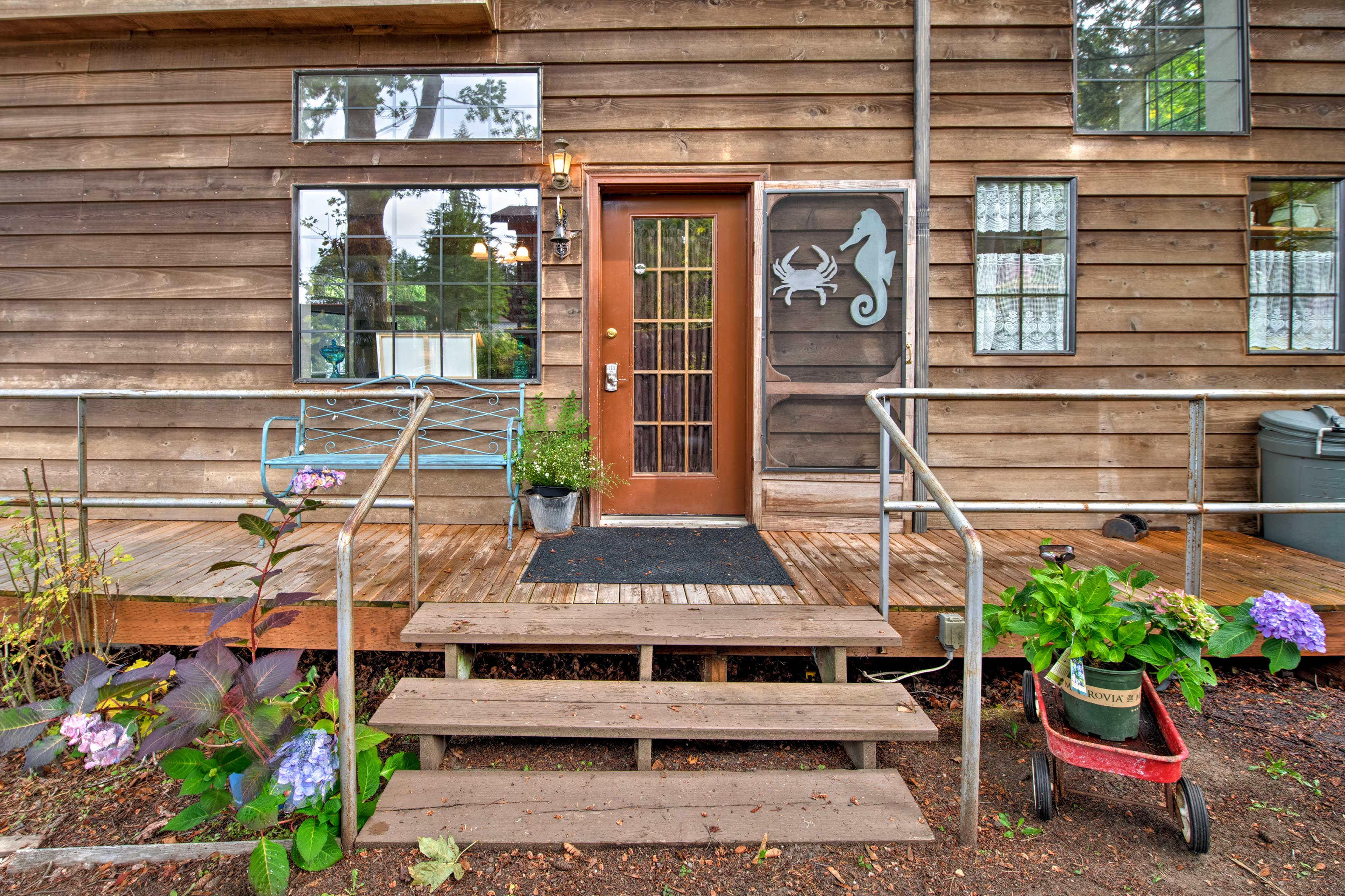 Home Exterior | 2 Stairs Required to Access