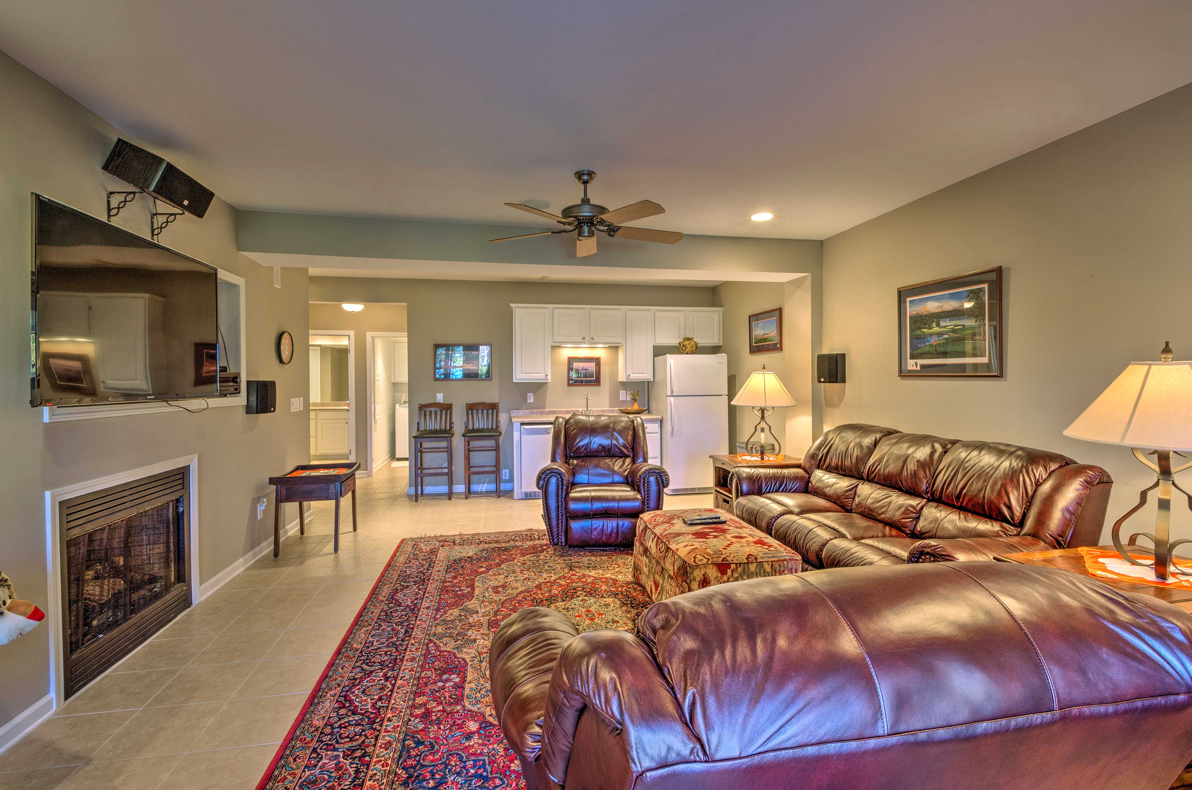 Media Room | Gas Fireplace | Kitchennette
