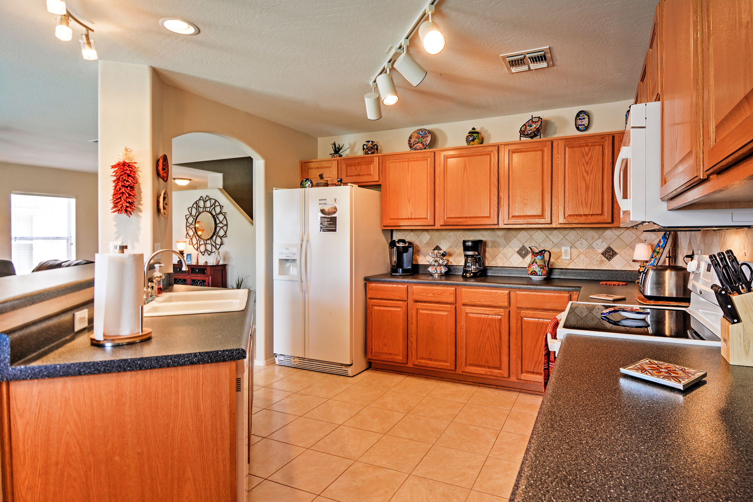 Bring your favorite recipes to life in the fully equipped kitchen!