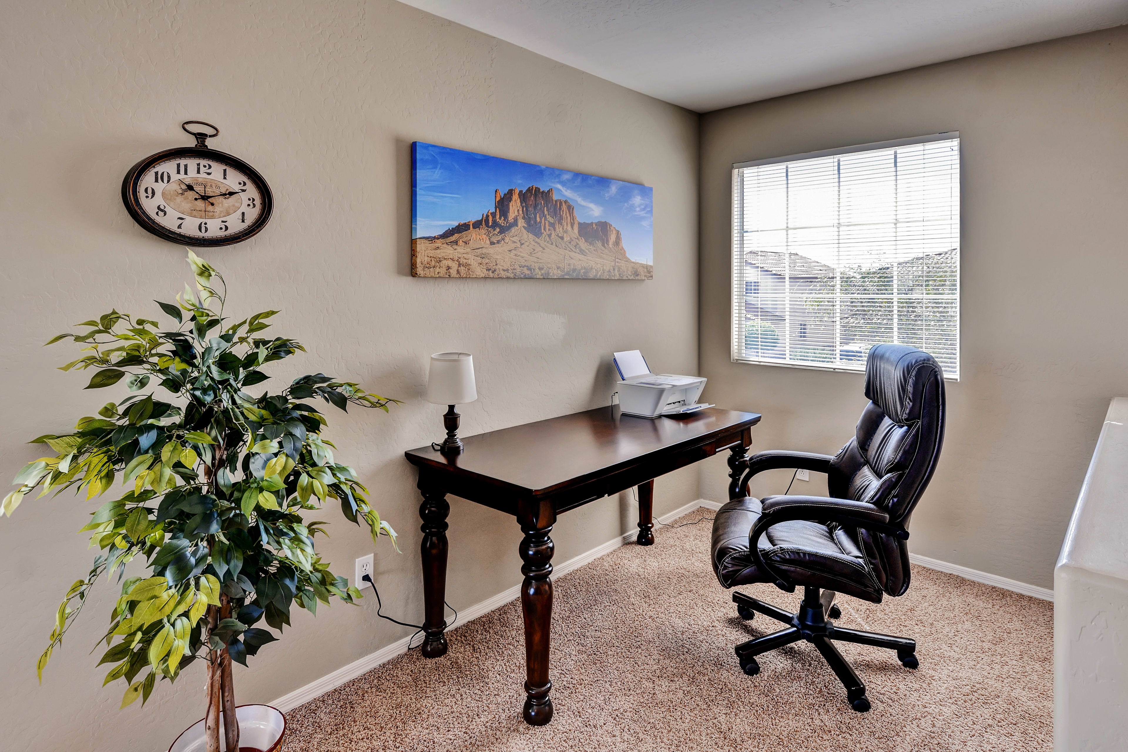 An office space is available if you need to get work done while away from home.
