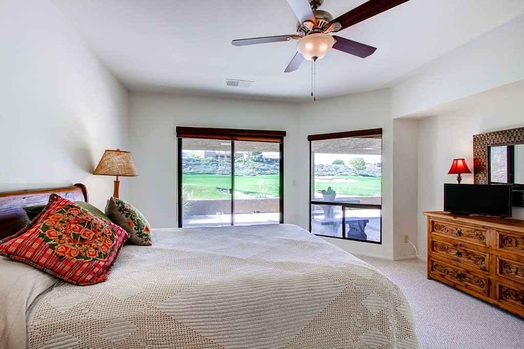 Master Bedroom   Cable TV   Access to Back Patio