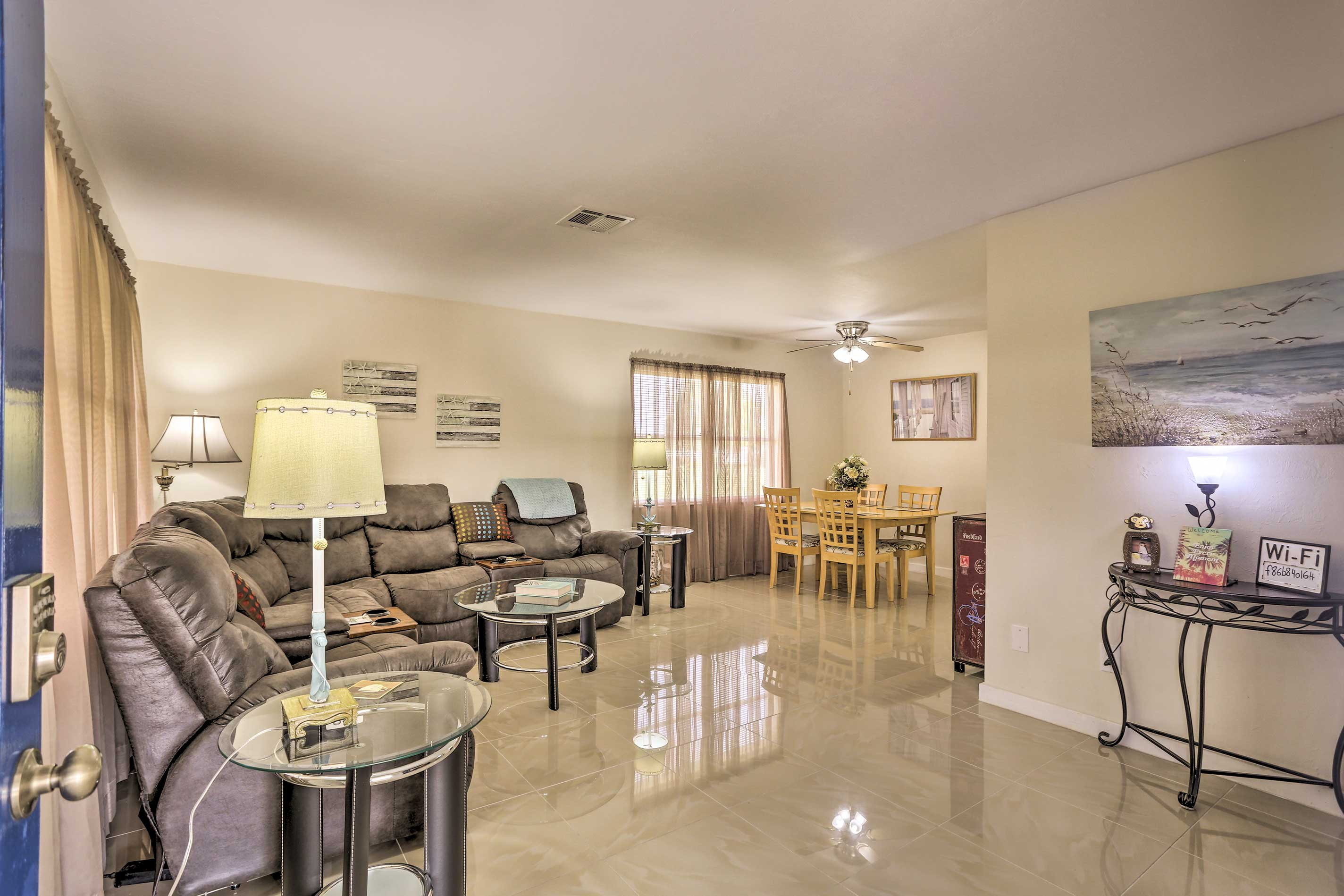 The spacious floor plan makes it easy to spend time together.