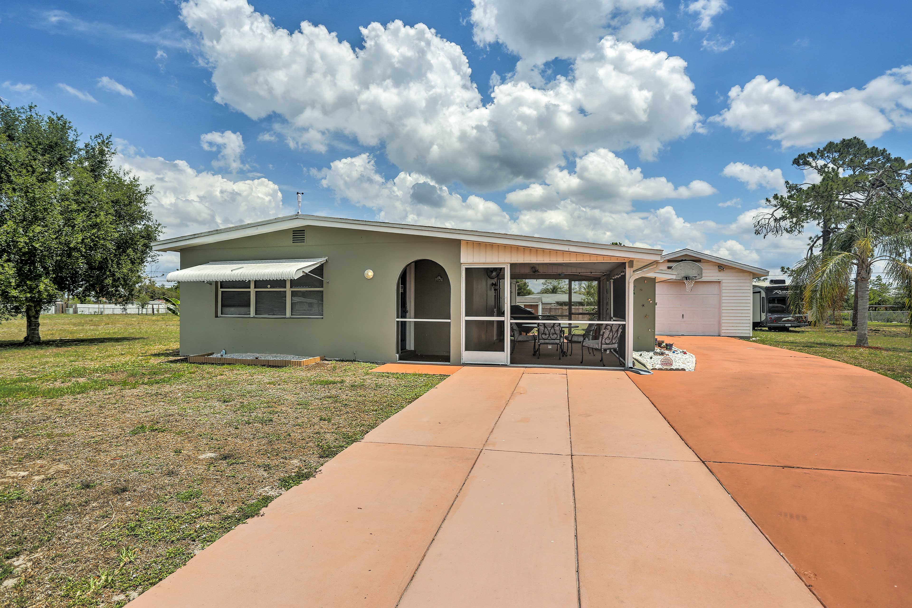 Have the ultimate Florida getaway at this Lehigh Acres vacation rental home!